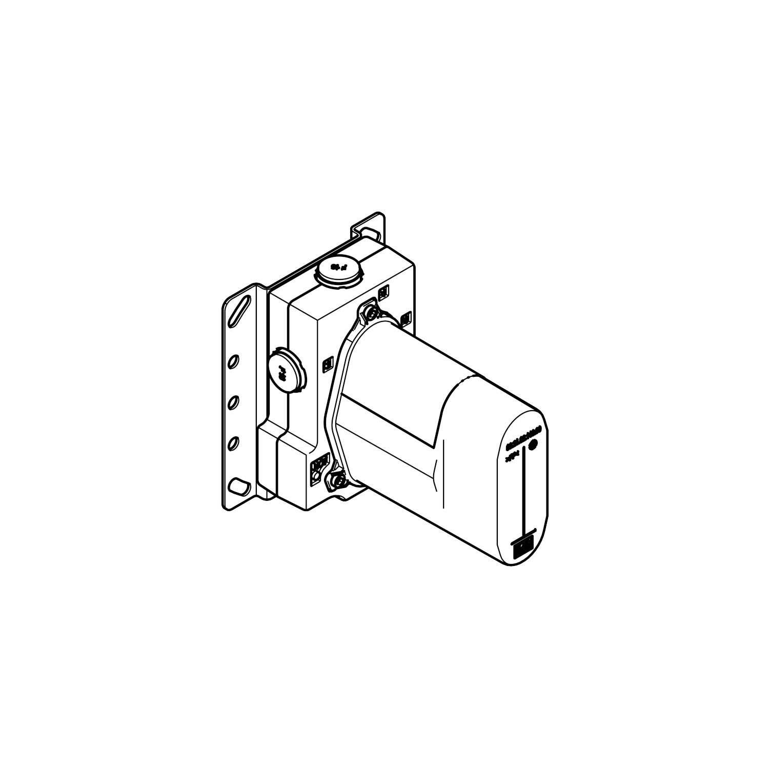Concealed thermostat with integrated supply stops -