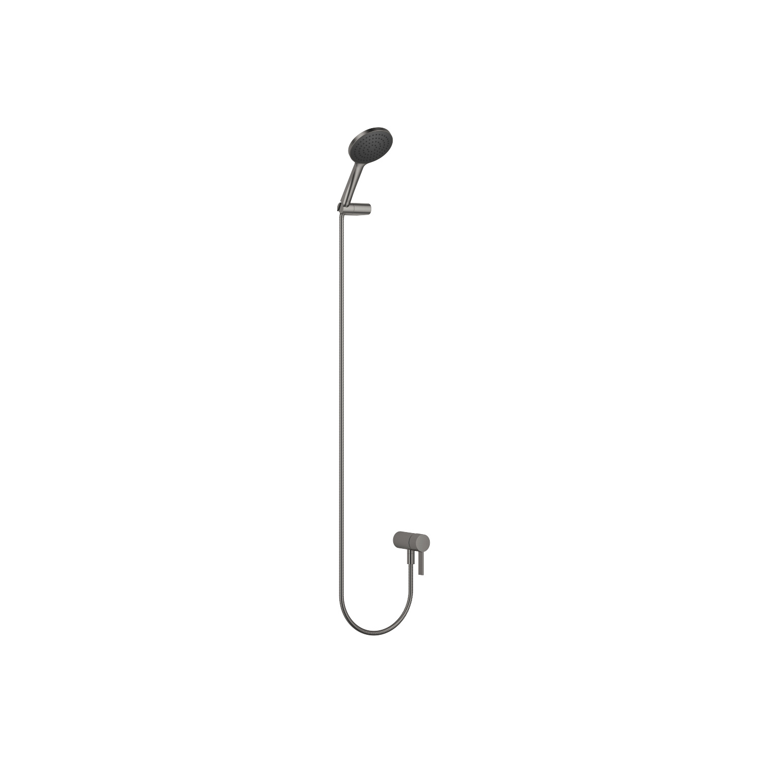 Concealed single-lever mixer with integrated shower connection with hand shower set - Dark Platinum matt