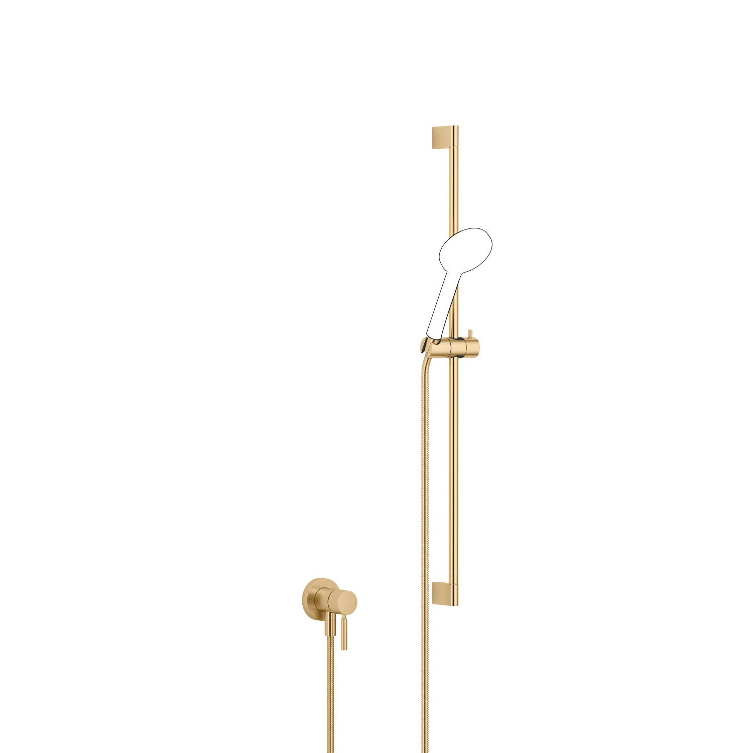 Concealed single-lever mixer with integrated shower connection with shower set without hand shower - brushed Durabrass - 36 013 660-28