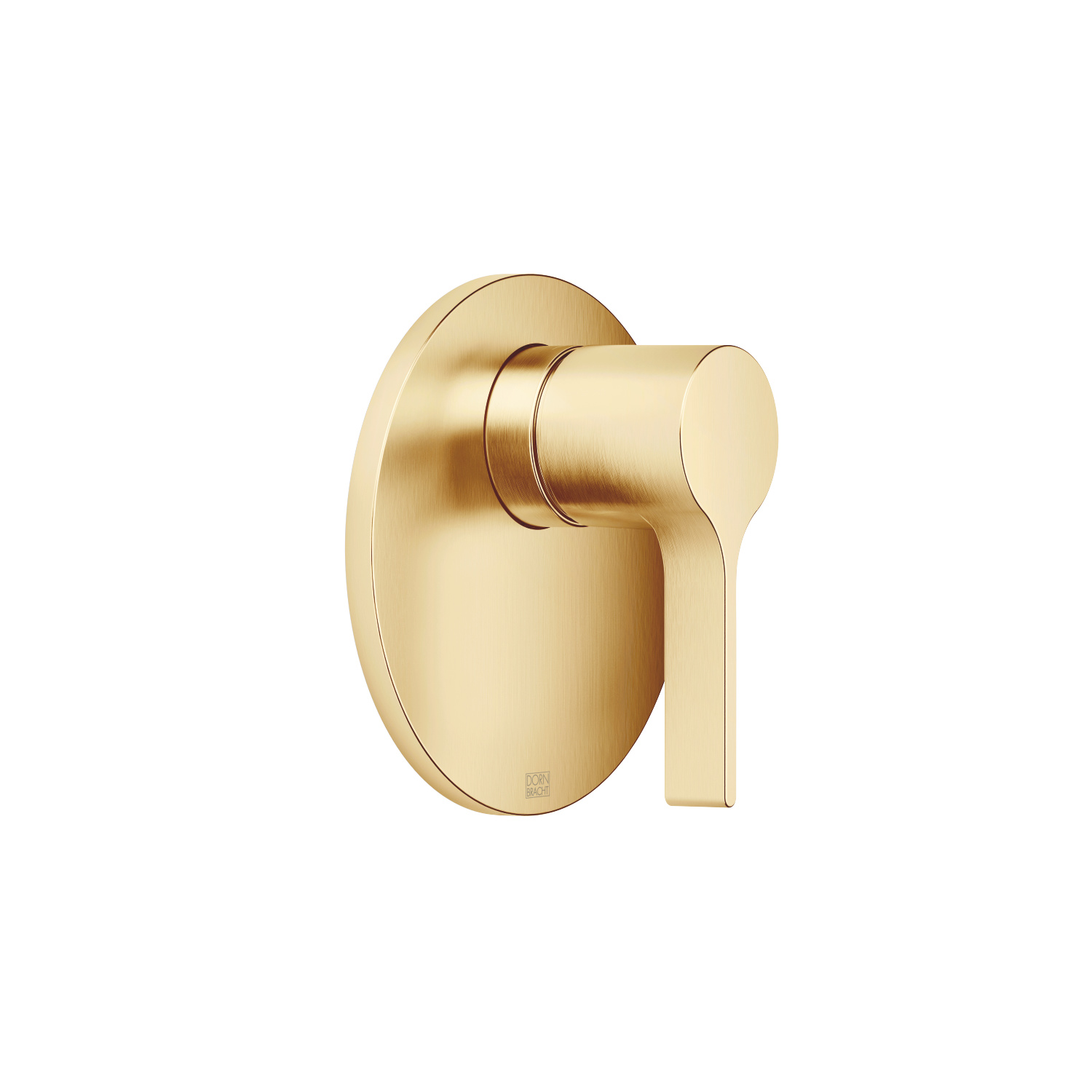 Concealed single-lever mixer without diverter - brushed Durabrass