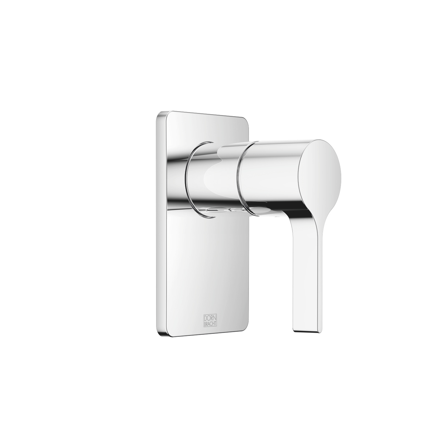 Concealed single-lever mixer without diverter - polished chrome