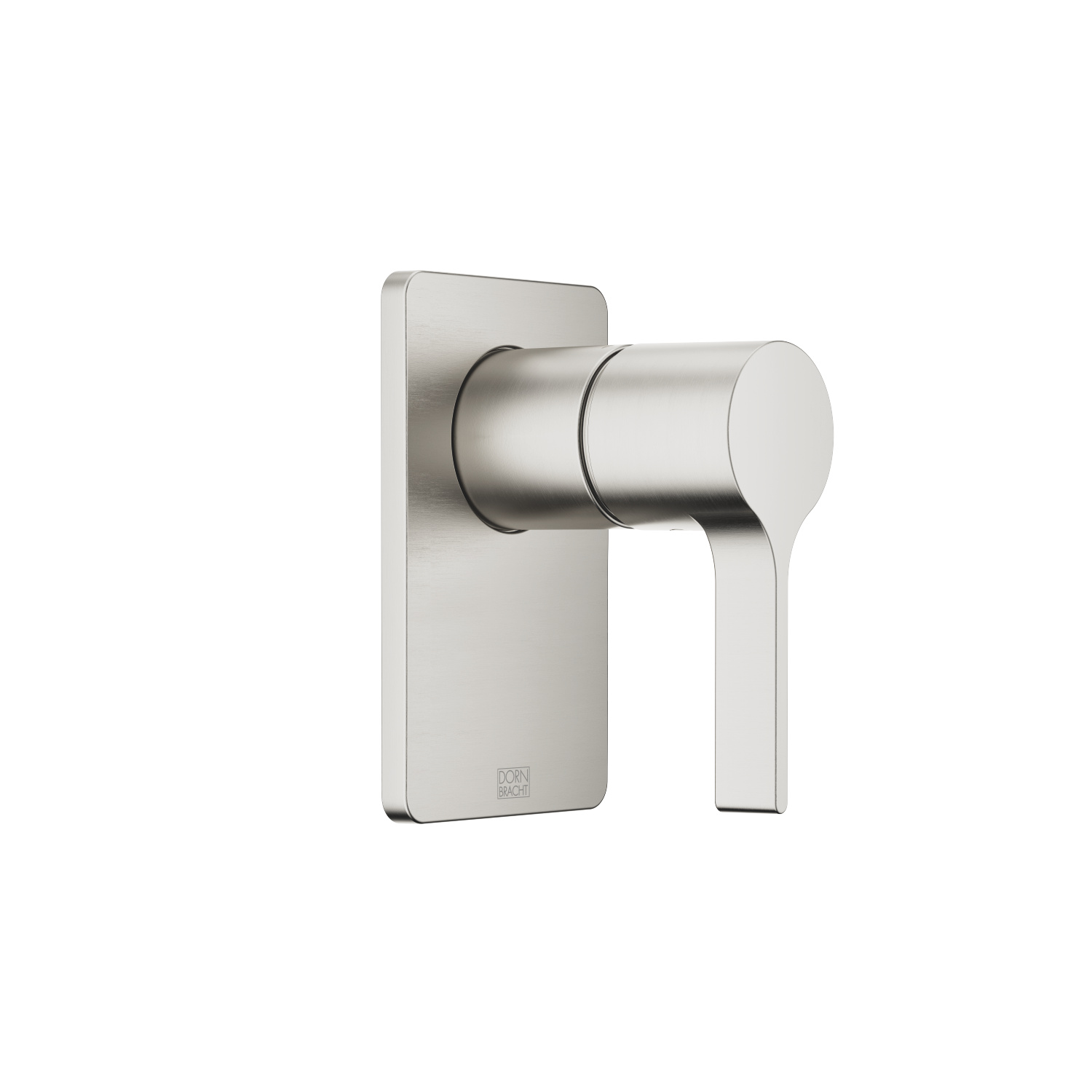 Concealed single-lever mixer without diverter - platinum matt