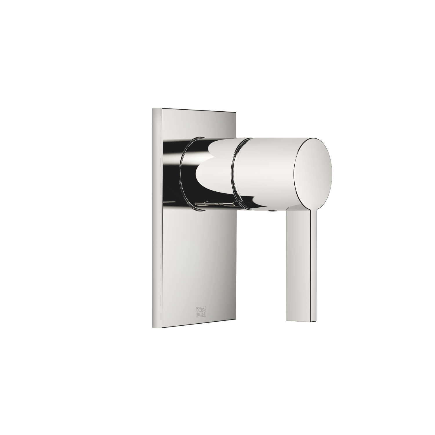 Concealed single-lever mixer without diverter - platinum