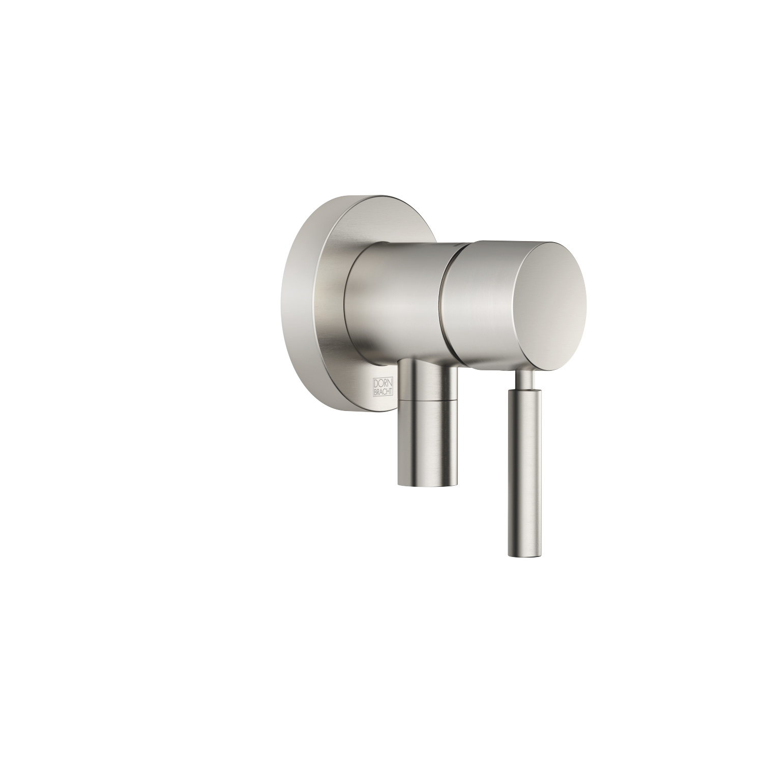 Concealed single-lever mixer with cover plate with integrated shower connection - platinum matt