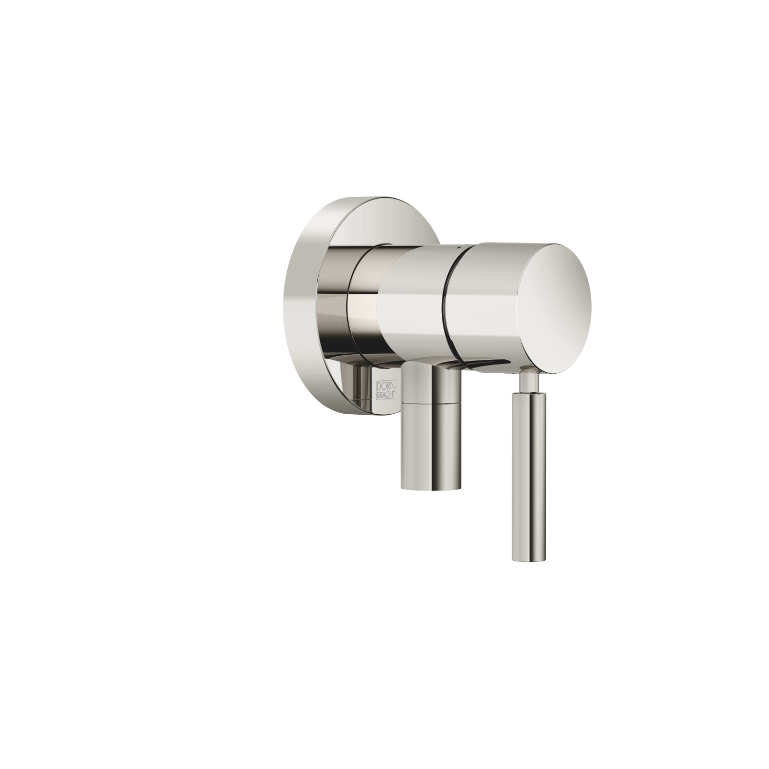 Concealed single-lever mixer with cover plate with integrated shower connection - platinum