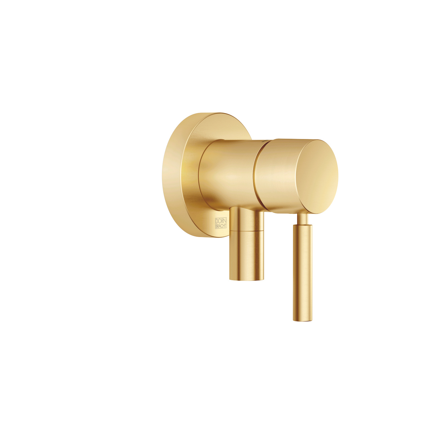 Concealed single-lever mixer with cover plate with integrated shower connection - brushed Durabrass