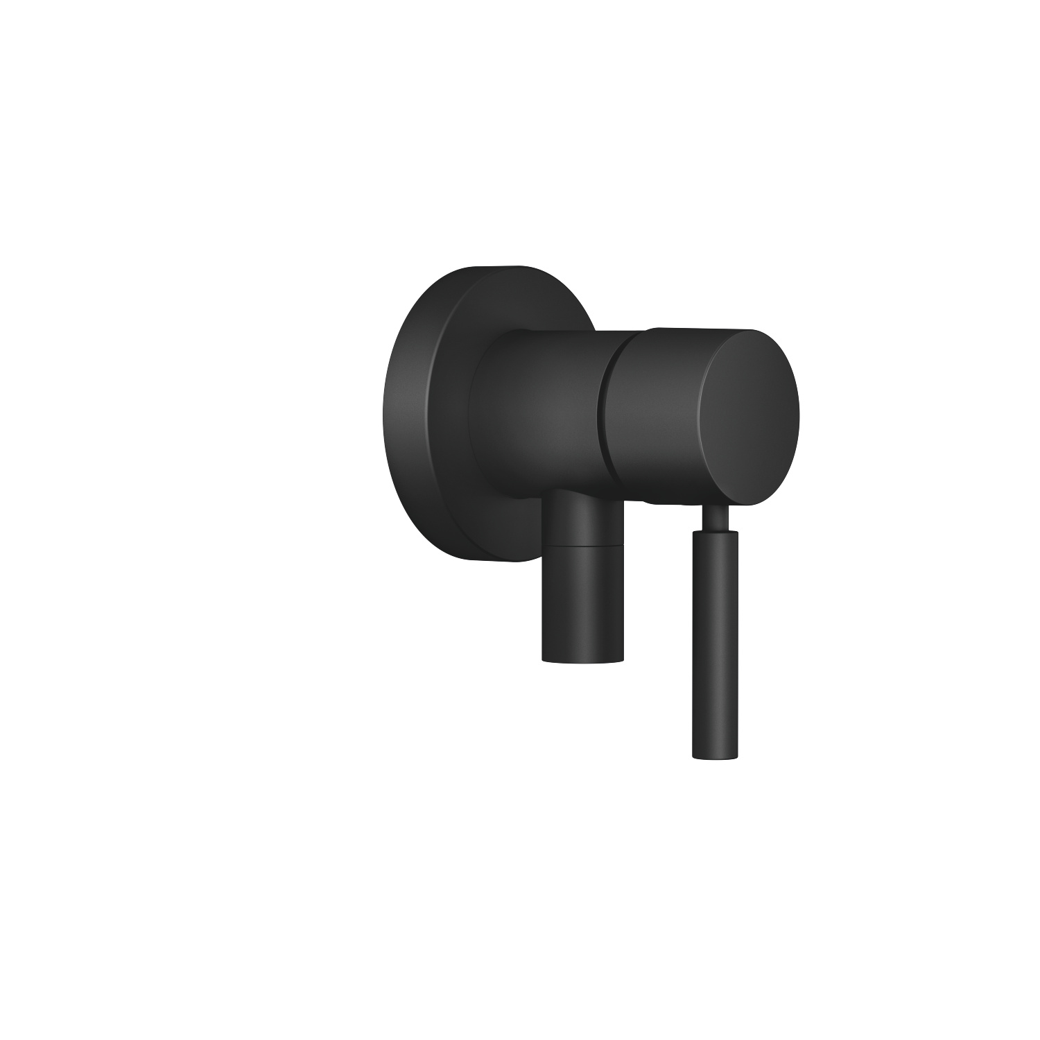 Concealed single-lever mixer with cover plate with integrated shower connection - matt black - 36 045 660-33