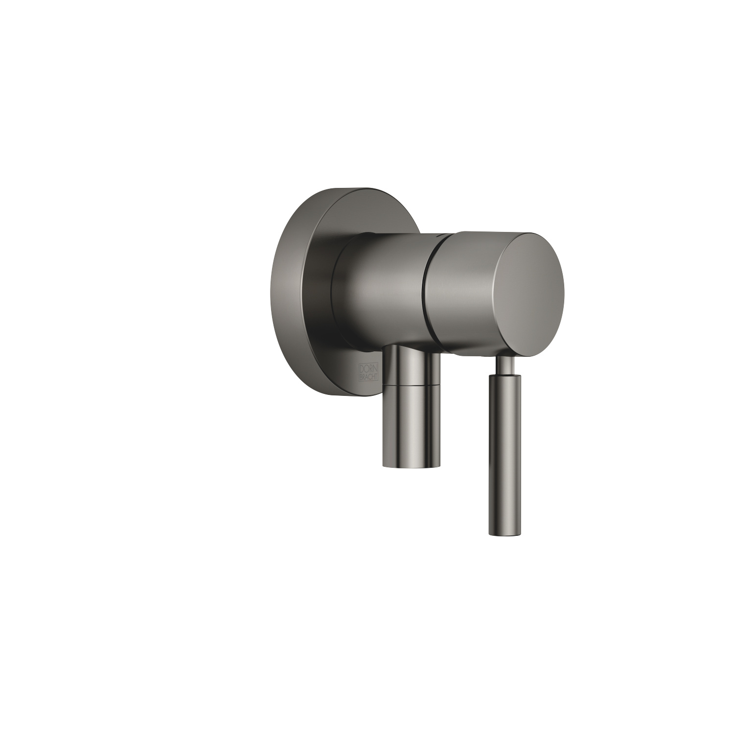 Concealed single-lever mixer with cover plate with integrated shower connection - Dark Platinum matt