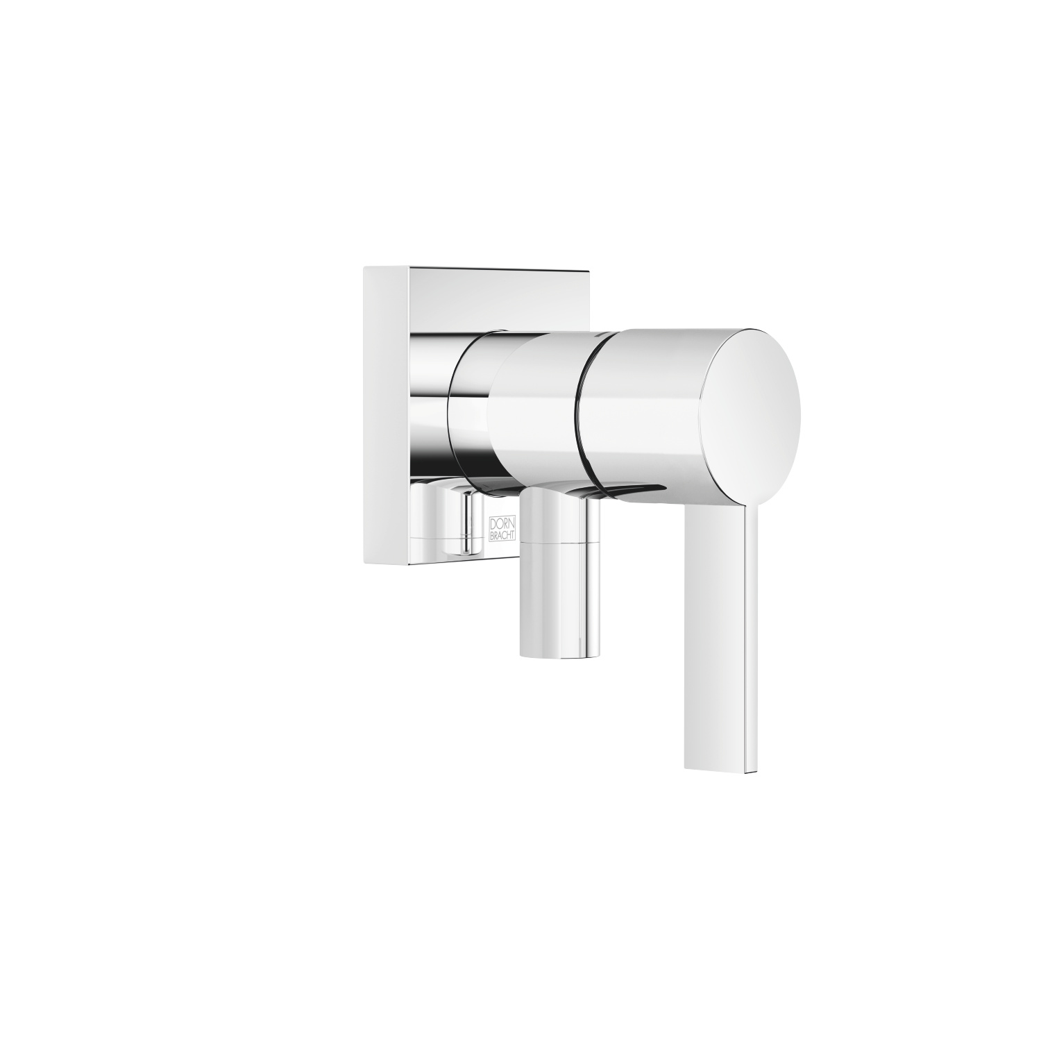 Concealed single-lever mixer with cover plate with integrated shower connection - polished chrome