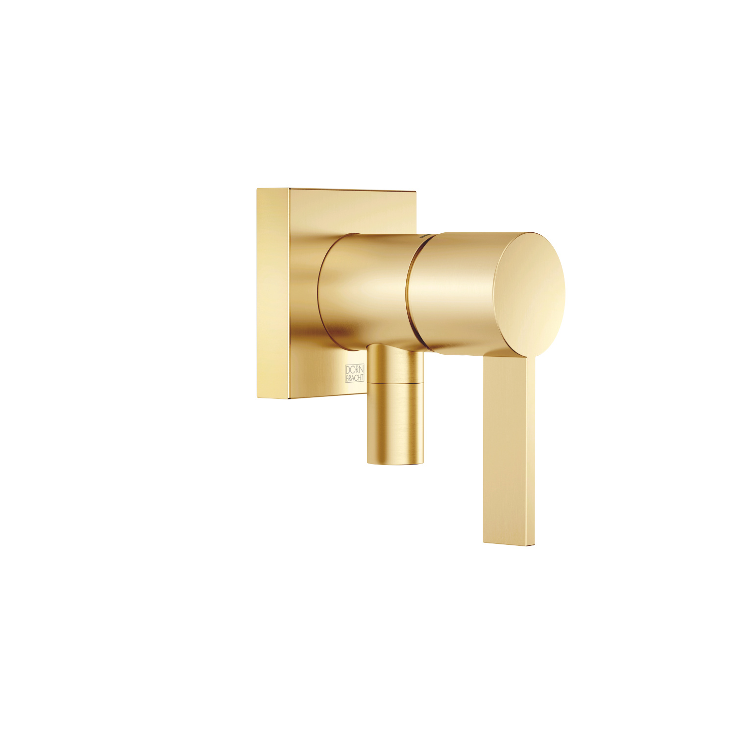 Concealed single-lever mixer with cover plate with integrated shower connection - brushed Durabrass - 36 045 970-28