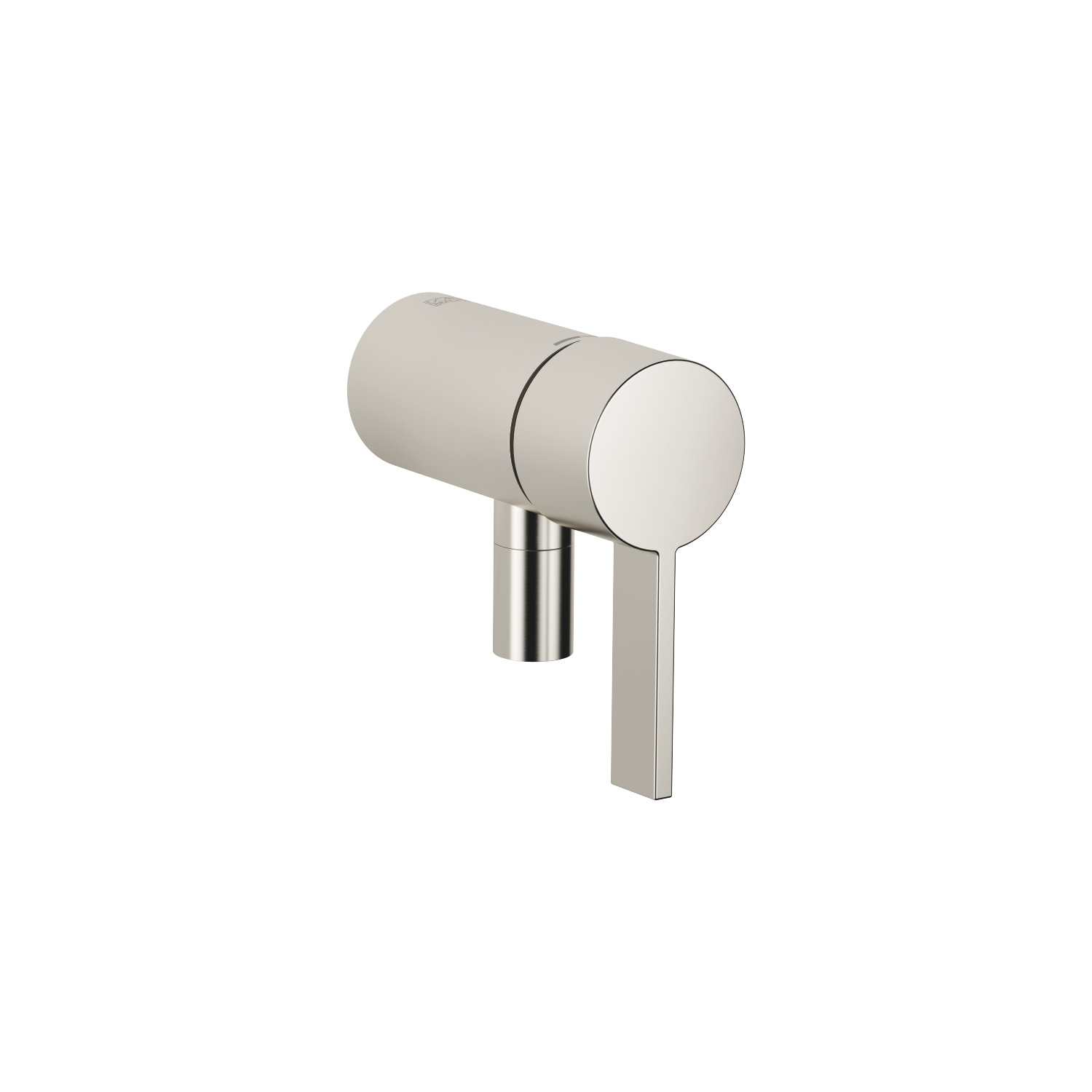Concealed single-lever mixer with integrated shower connection - platinum matt