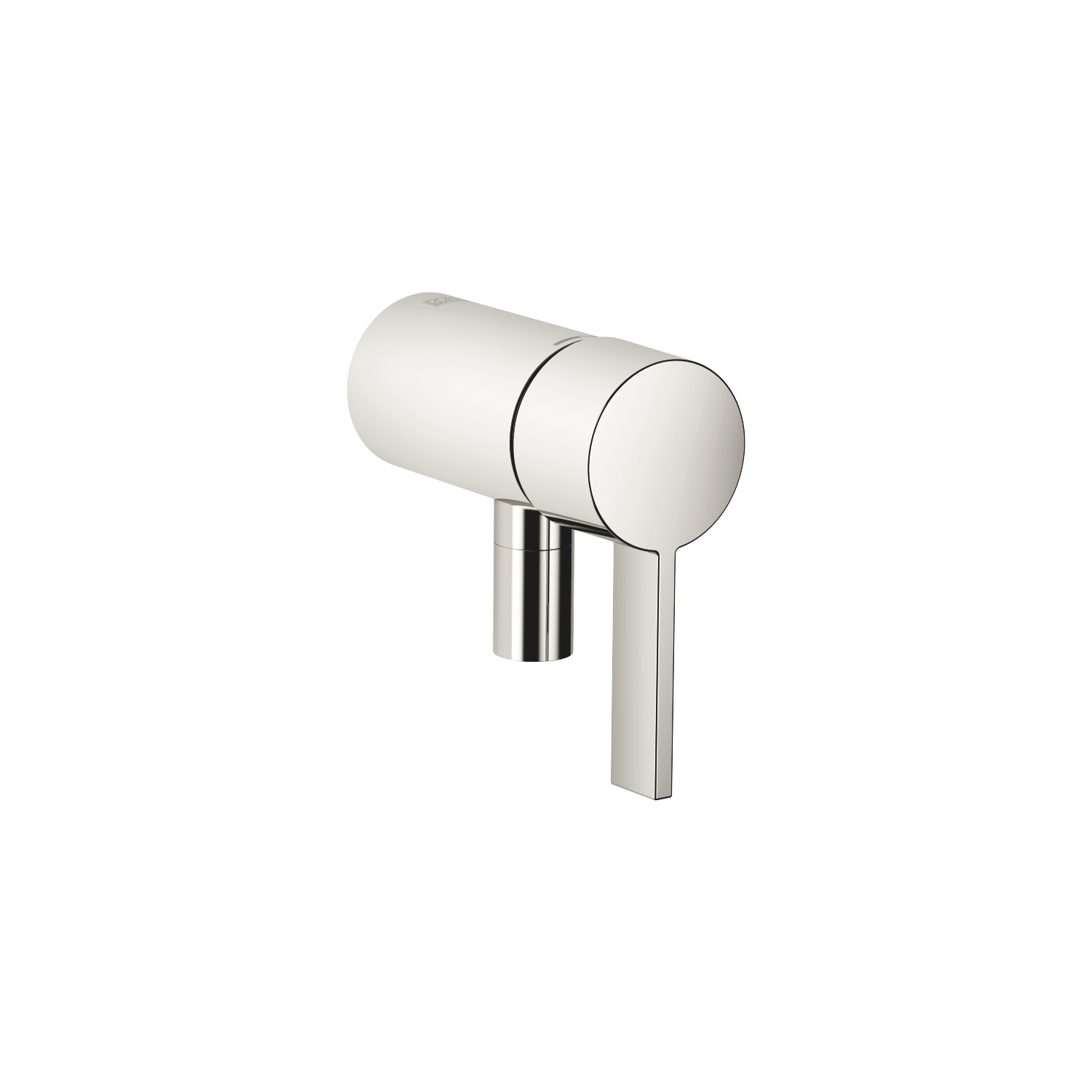 Concealed single-lever mixer with integrated shower connection - platinum