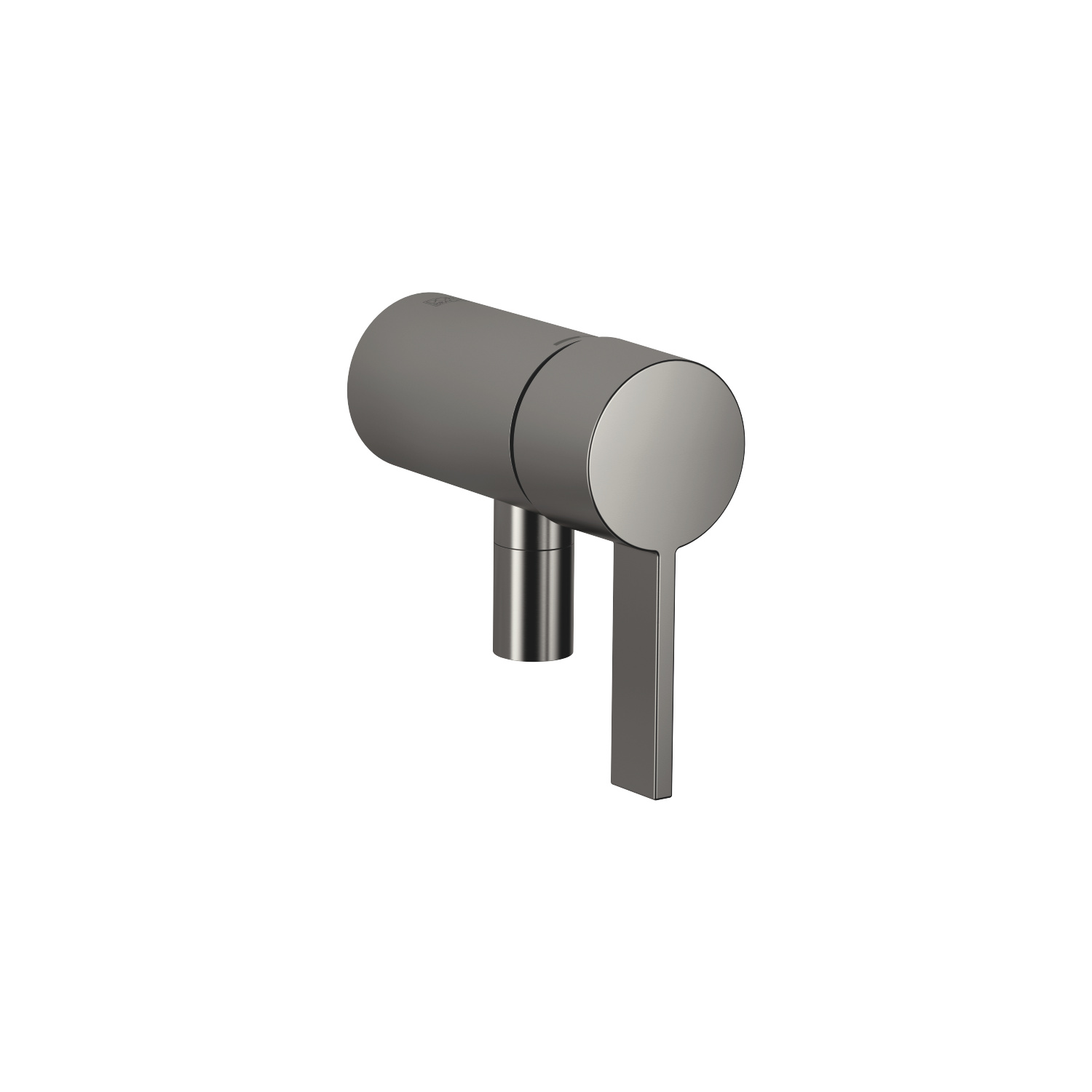 Concealed single-lever mixer with integrated shower connection - Dark Platinum matt