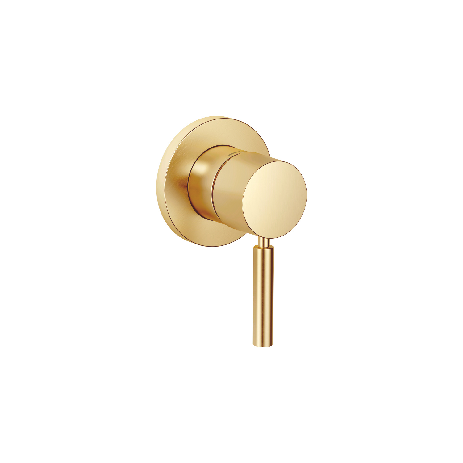 Concealed single-lever mixer with cover plate - brushed Durabrass