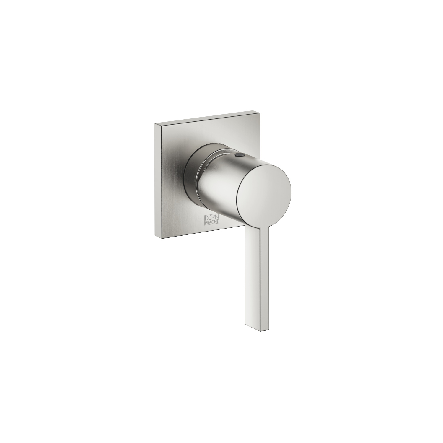 Concealed single-lever mixer with cover plate - platinum matt