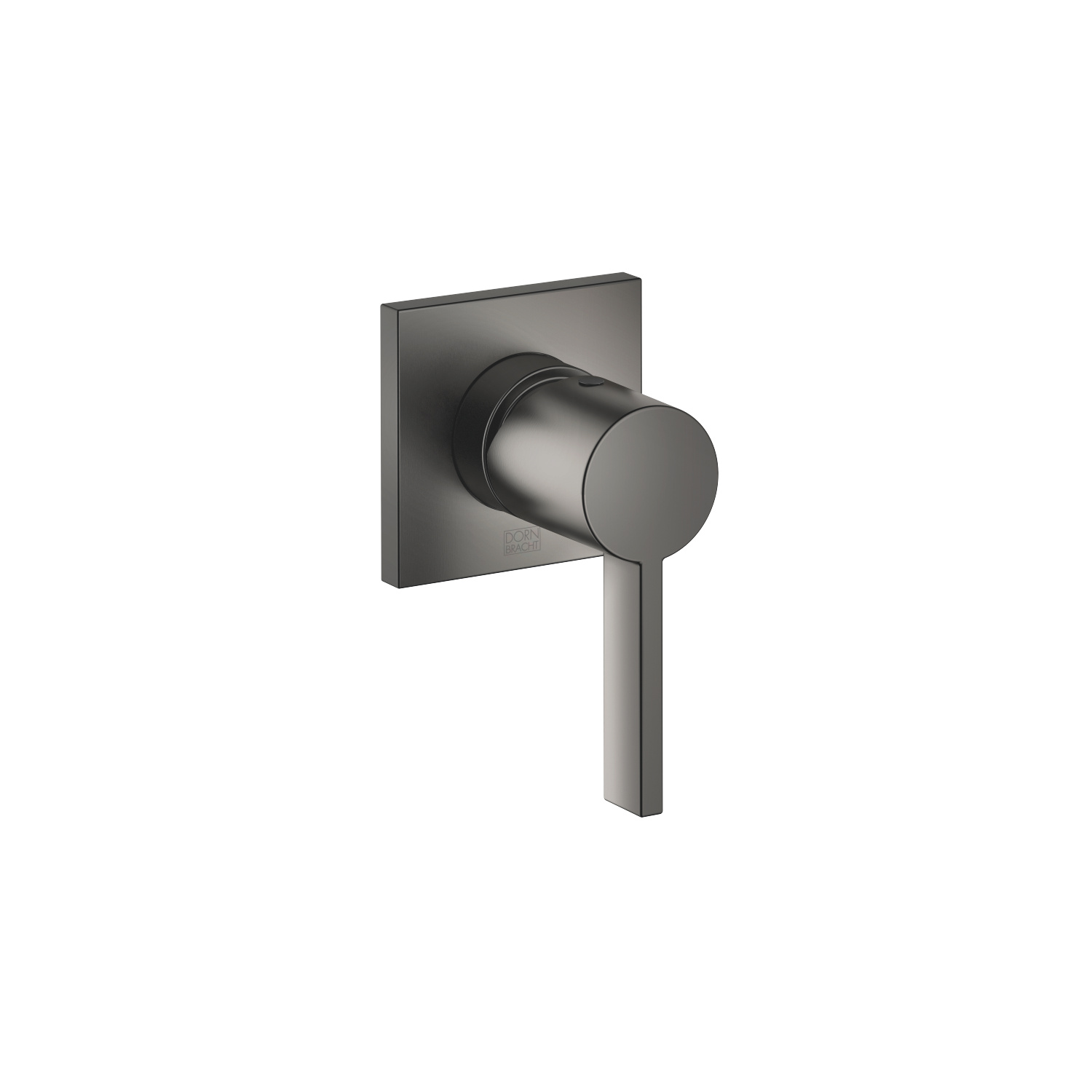 Concealed single-lever mixer with cover plate - Dark Platinum matt