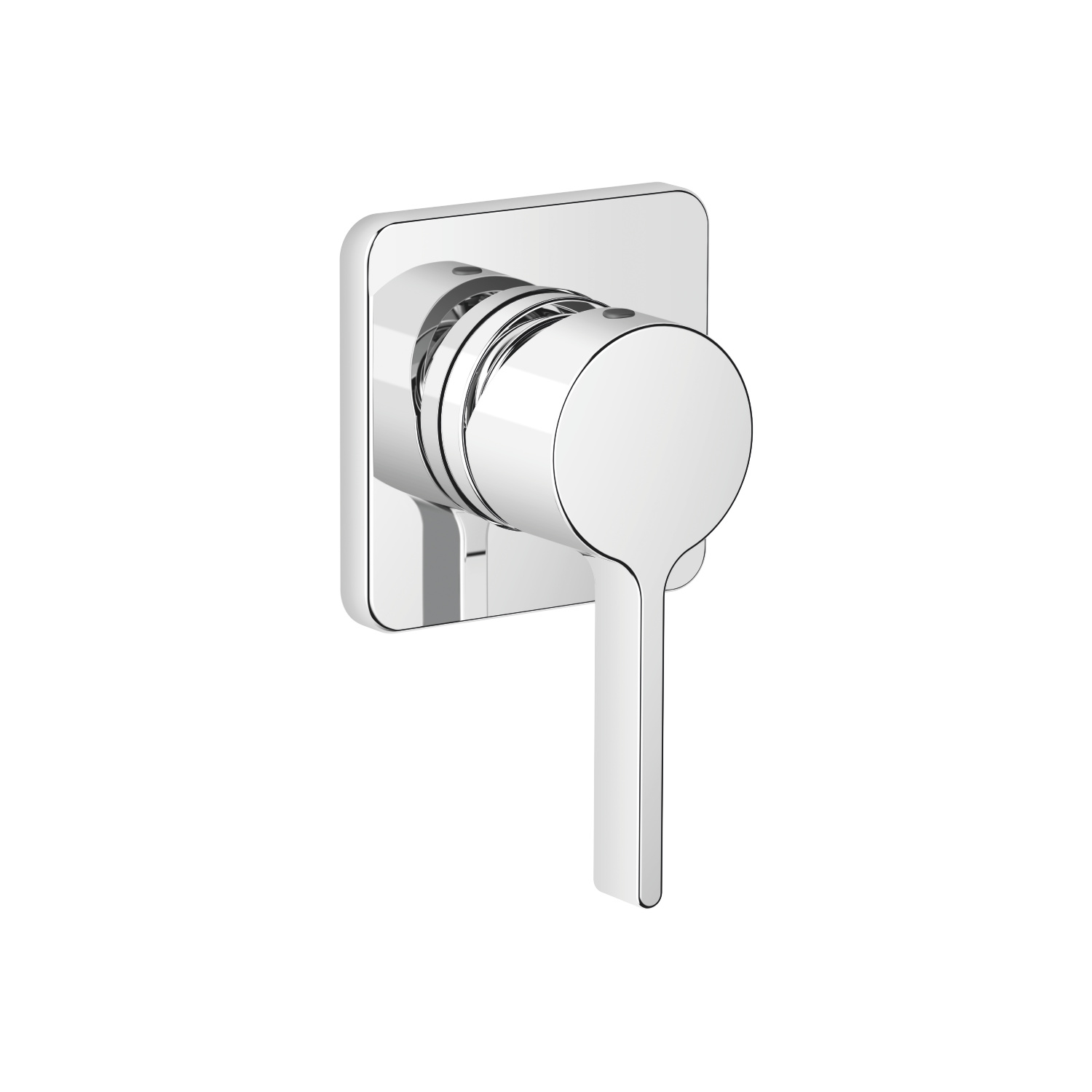 Concealed single-lever mixer with cover plate - polished chrome