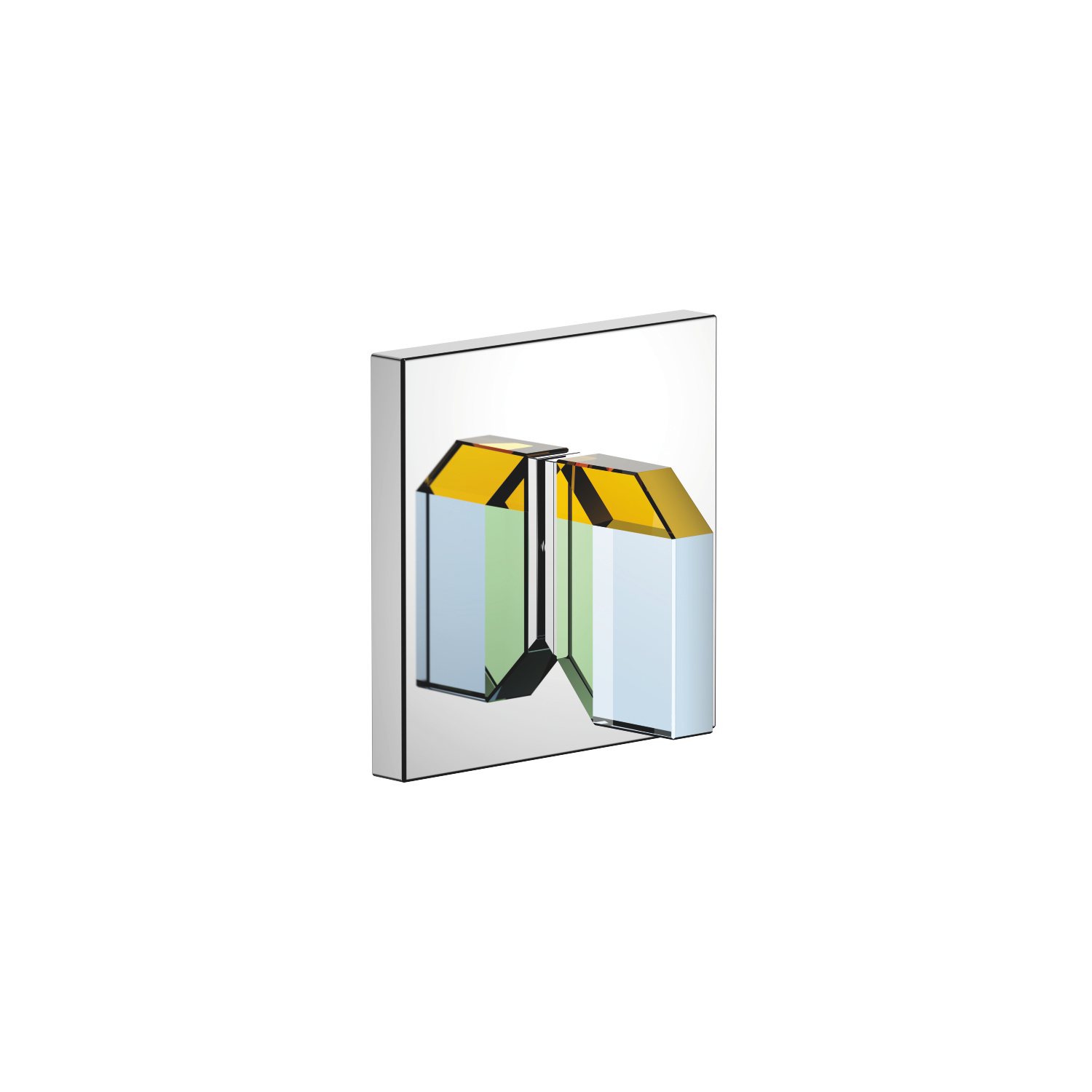 Wall mounted two- and three-way diverter trim - polished chrome