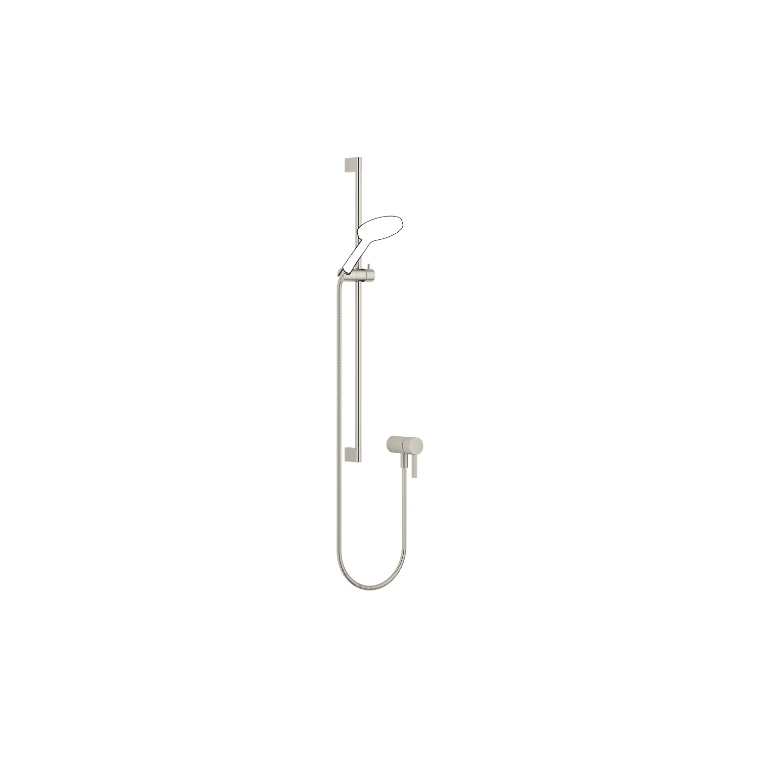 Concealed single-lever mixer with integrated shower connection with shower set - platinum matt - 36 110 970-06