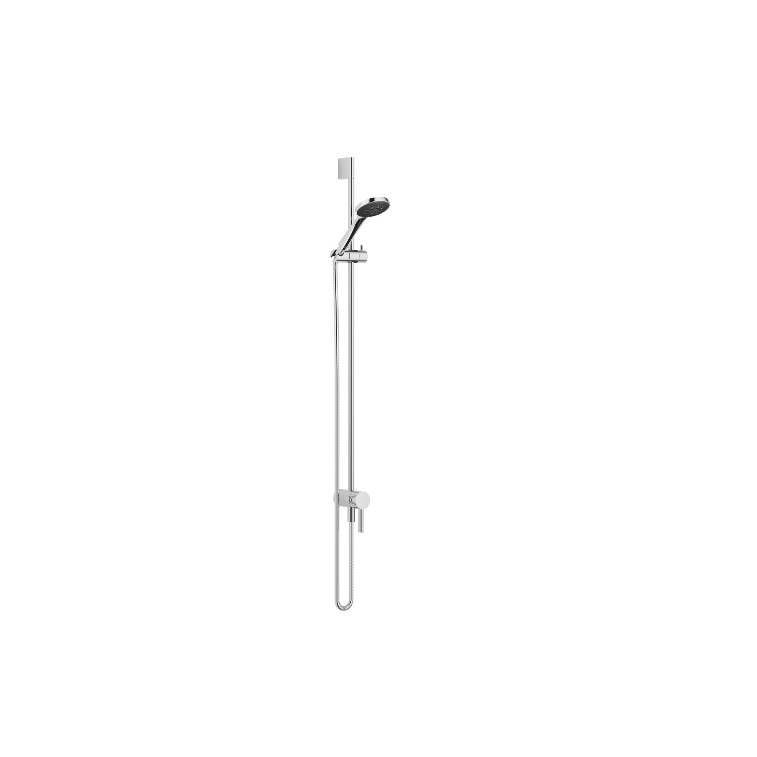 Concealed single-lever mixer with integrated shower connection with shower set - polished chrome