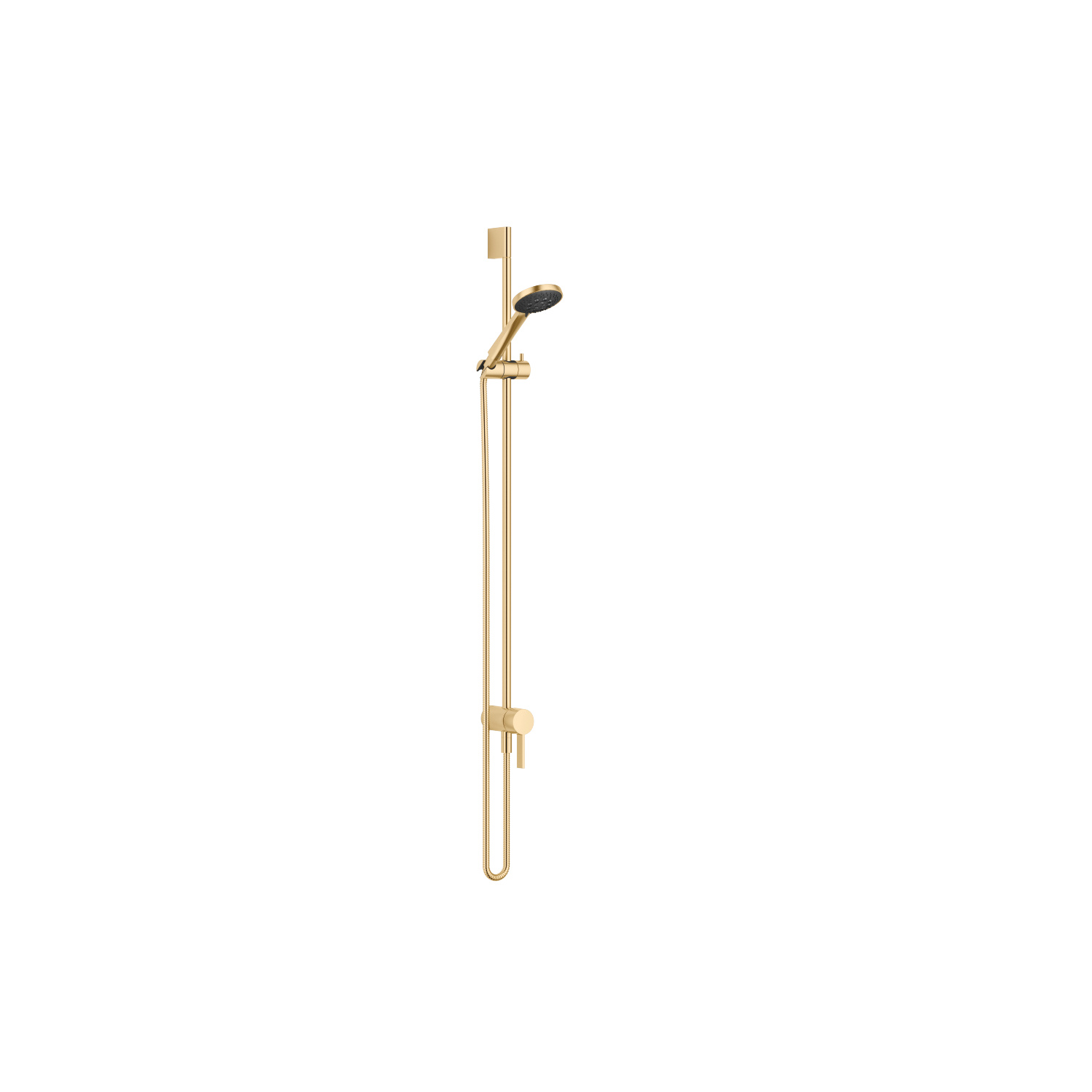 Concealed single-lever mixer with integrated shower connection with shower set - brushed Durabrass