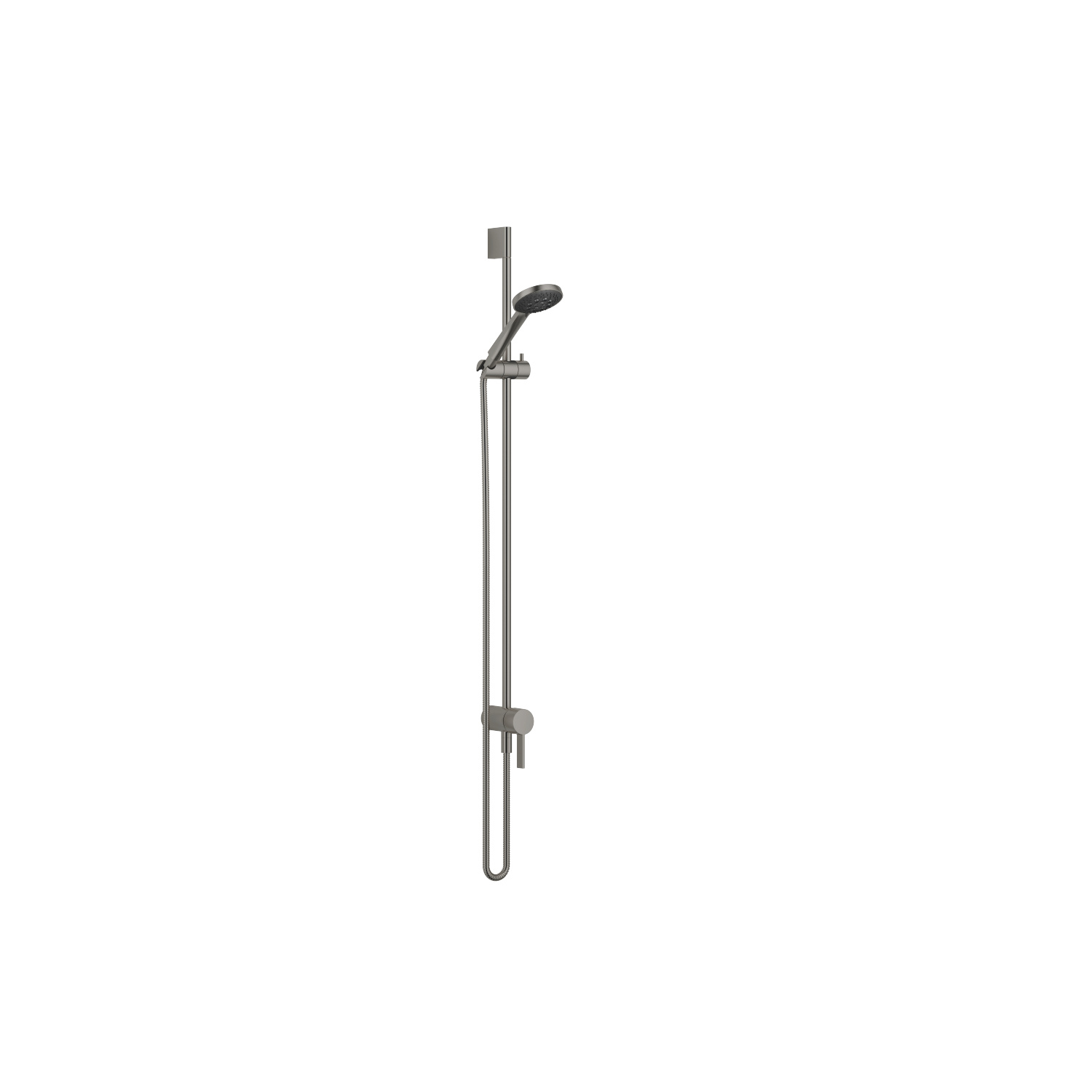 Concealed single-lever mixer with integrated shower connection with shower set - Dark Platinum matt