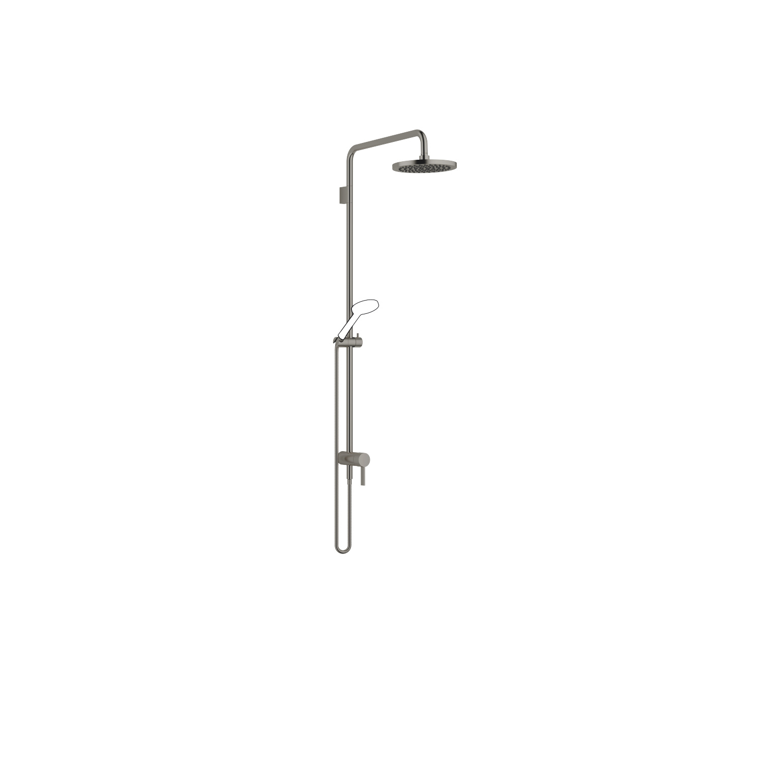 Showerpipe with single-lever shower mixer - Dark Platinum matt