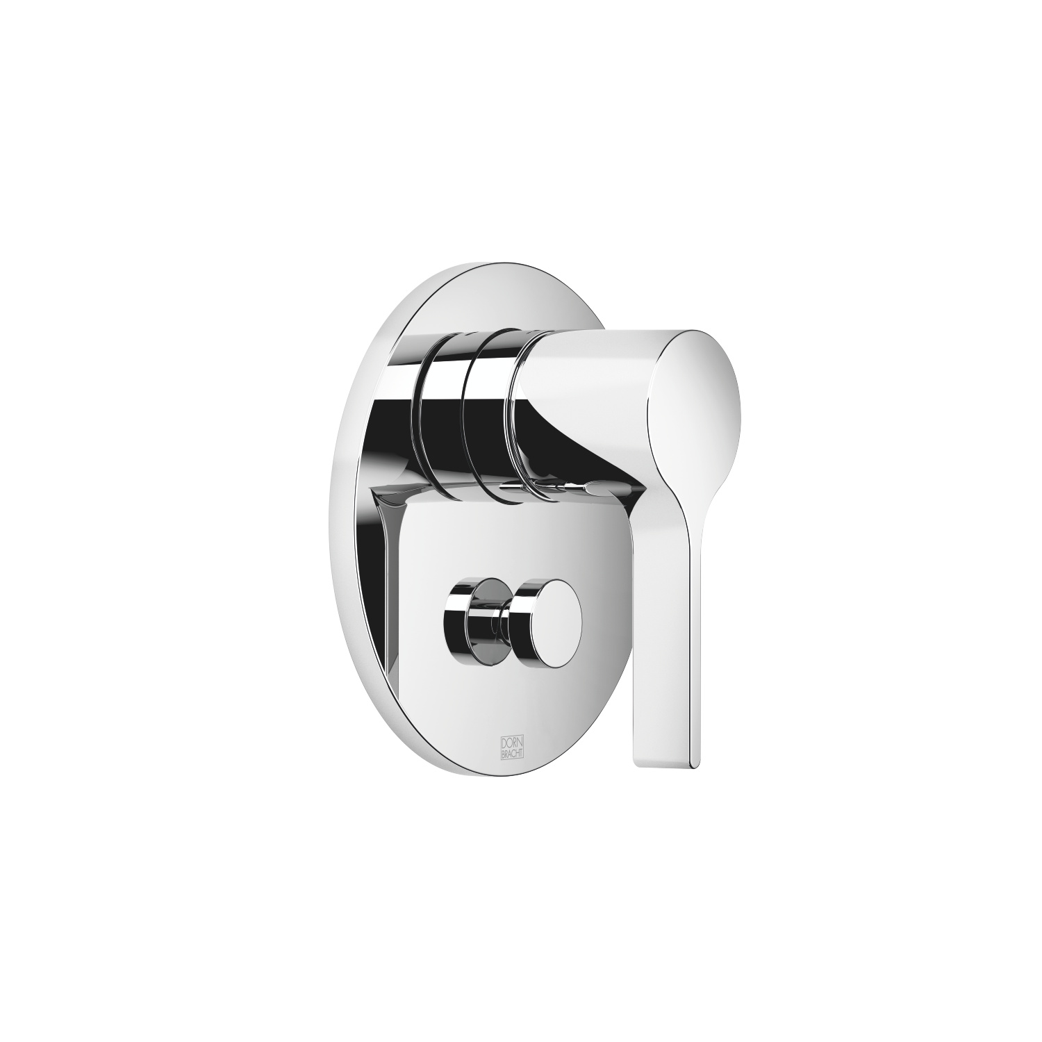 Concealed single-lever mixer with diverter - polished chrome