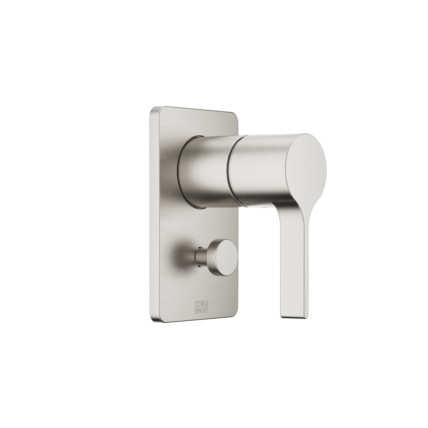 Concealed single-lever mixer with diverter - platinum matt