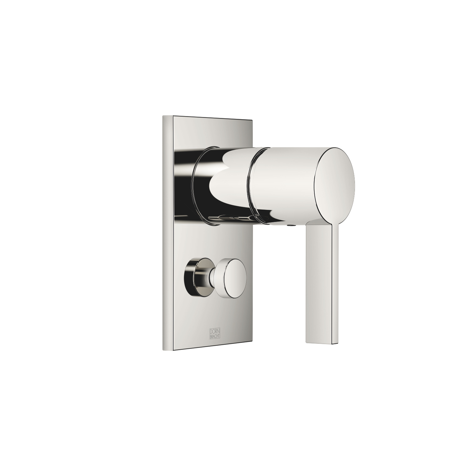Concealed single-lever mixer with diverter - platinum