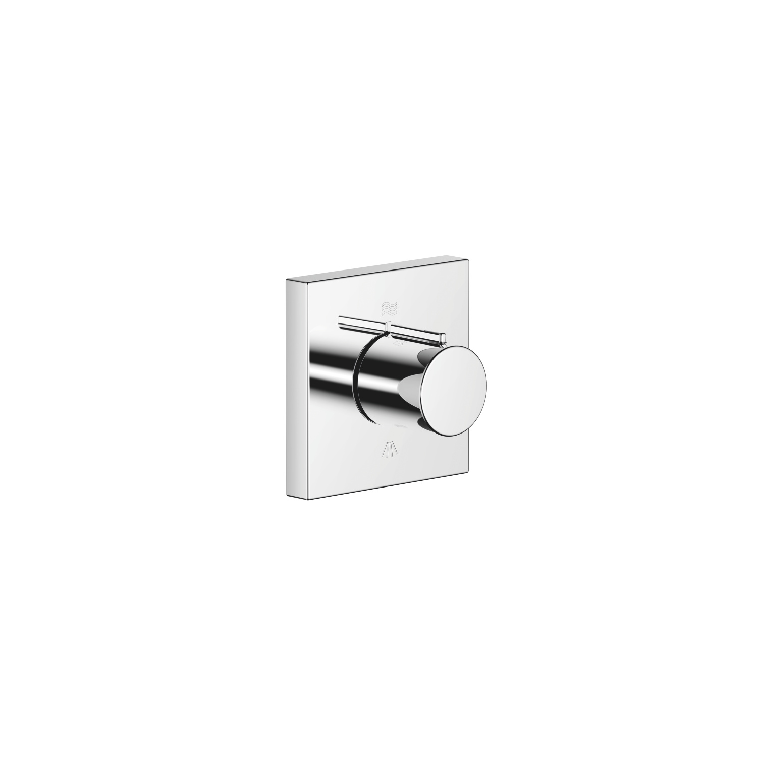 Concealed two-way diverter - polished chrome