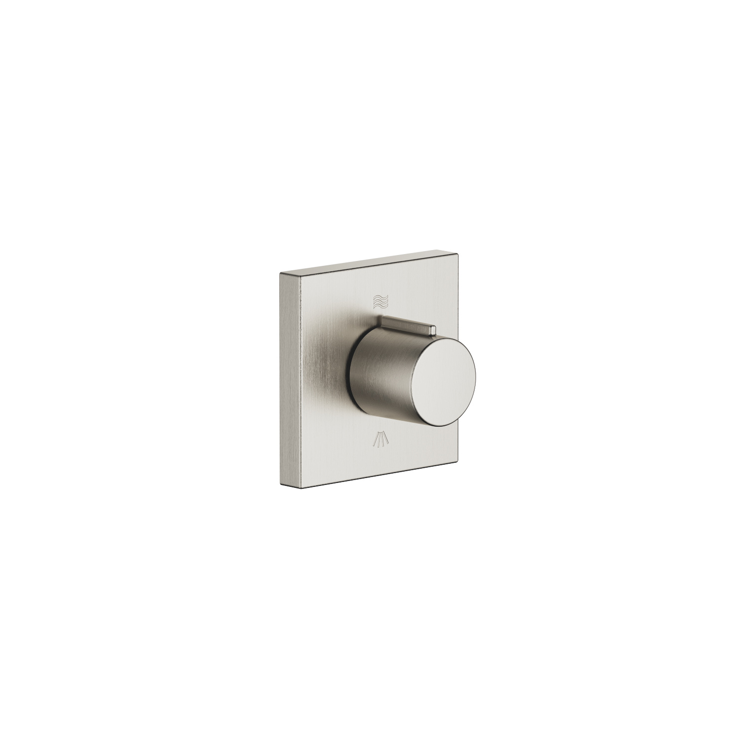 Concealed two-way diverter - platinum matt