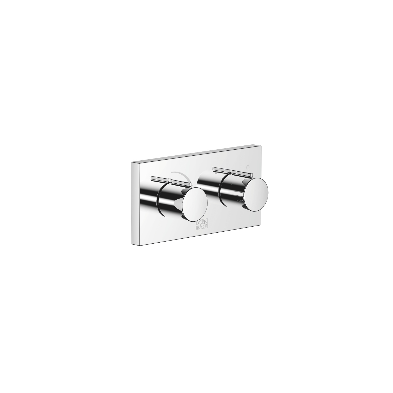xGATE Mixing valve with volume control for wall-mounted installation - polished chrome