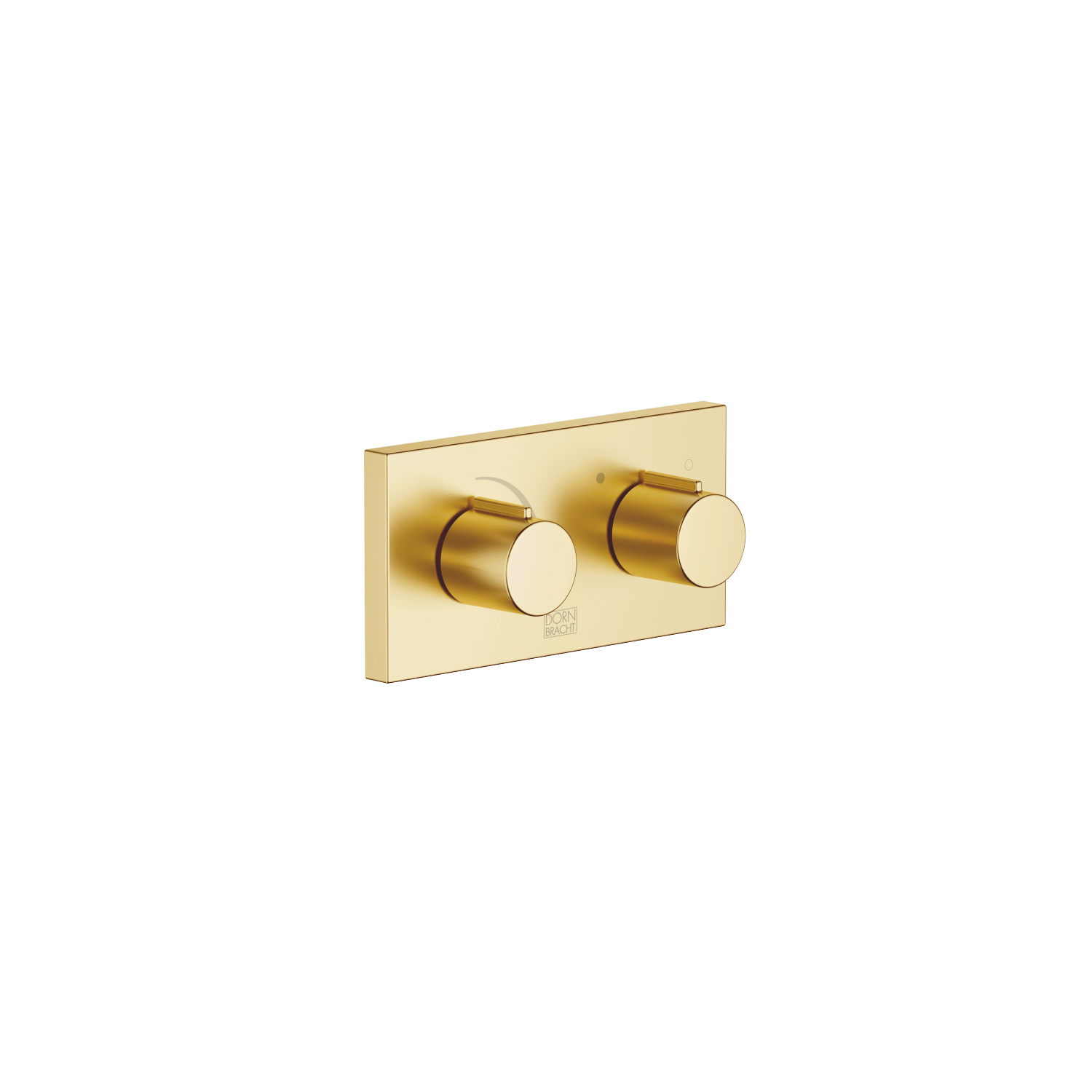 xGATE Mixer valve with volume control for wall mounting - brushed Durabrass
