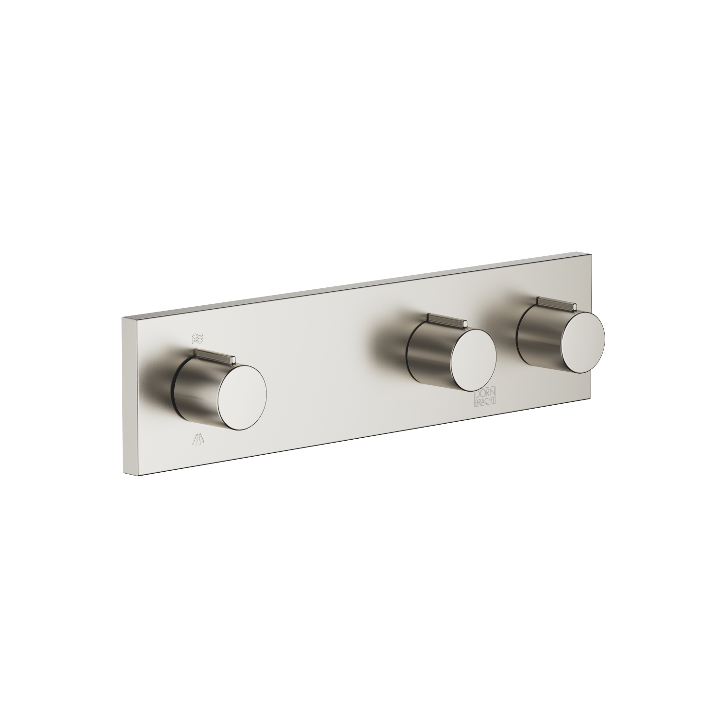 Wall valve with 2 valves with diverter for wall mounting - platinum matt