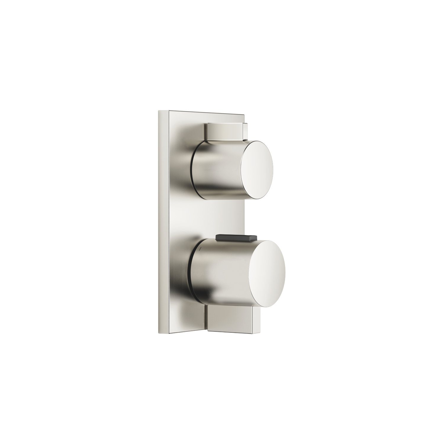 Concealed thermostat with one-way volume control - platinum matte