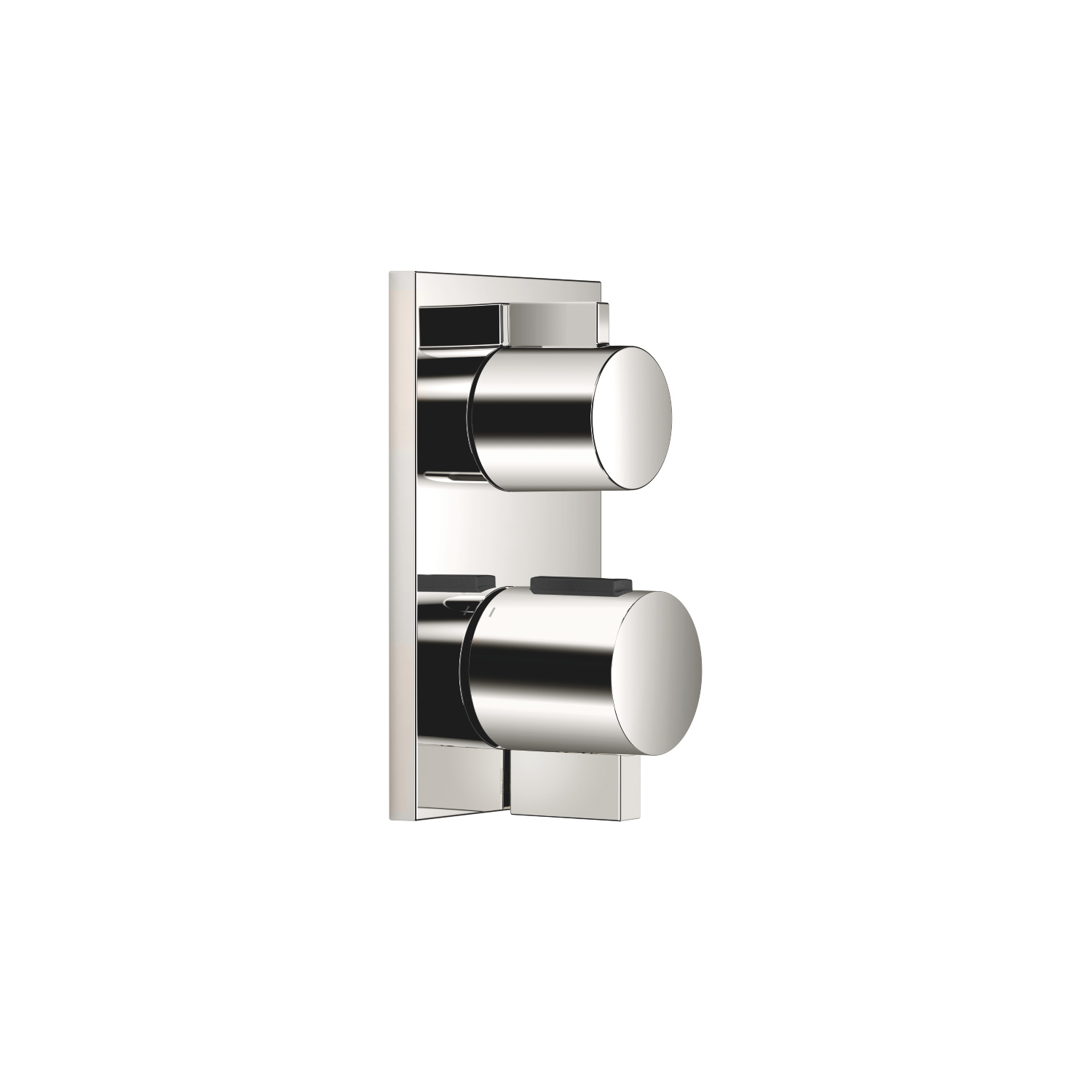 Concealed thermostat with one function volume control - platinum