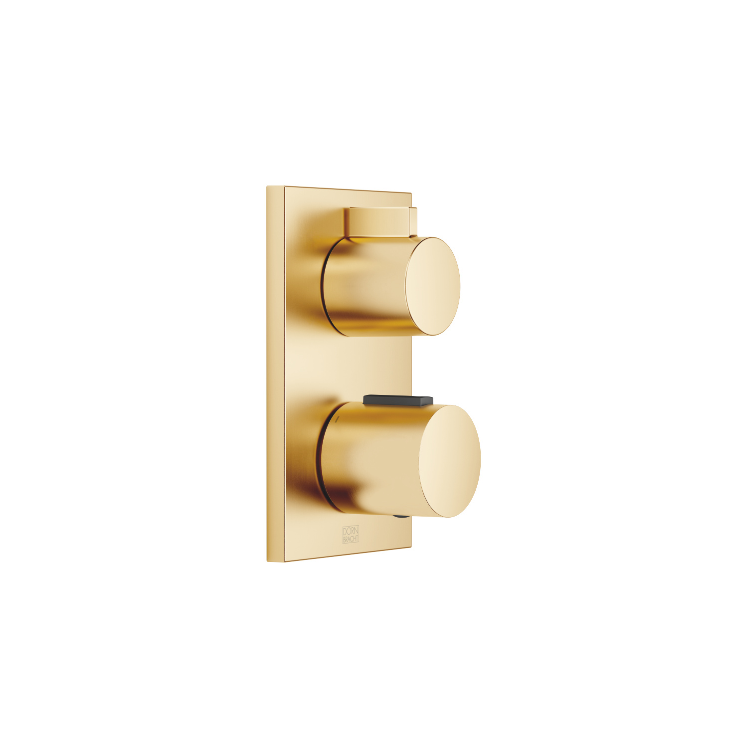 Concealed thermostat with one function volume control - brushed Durabrass