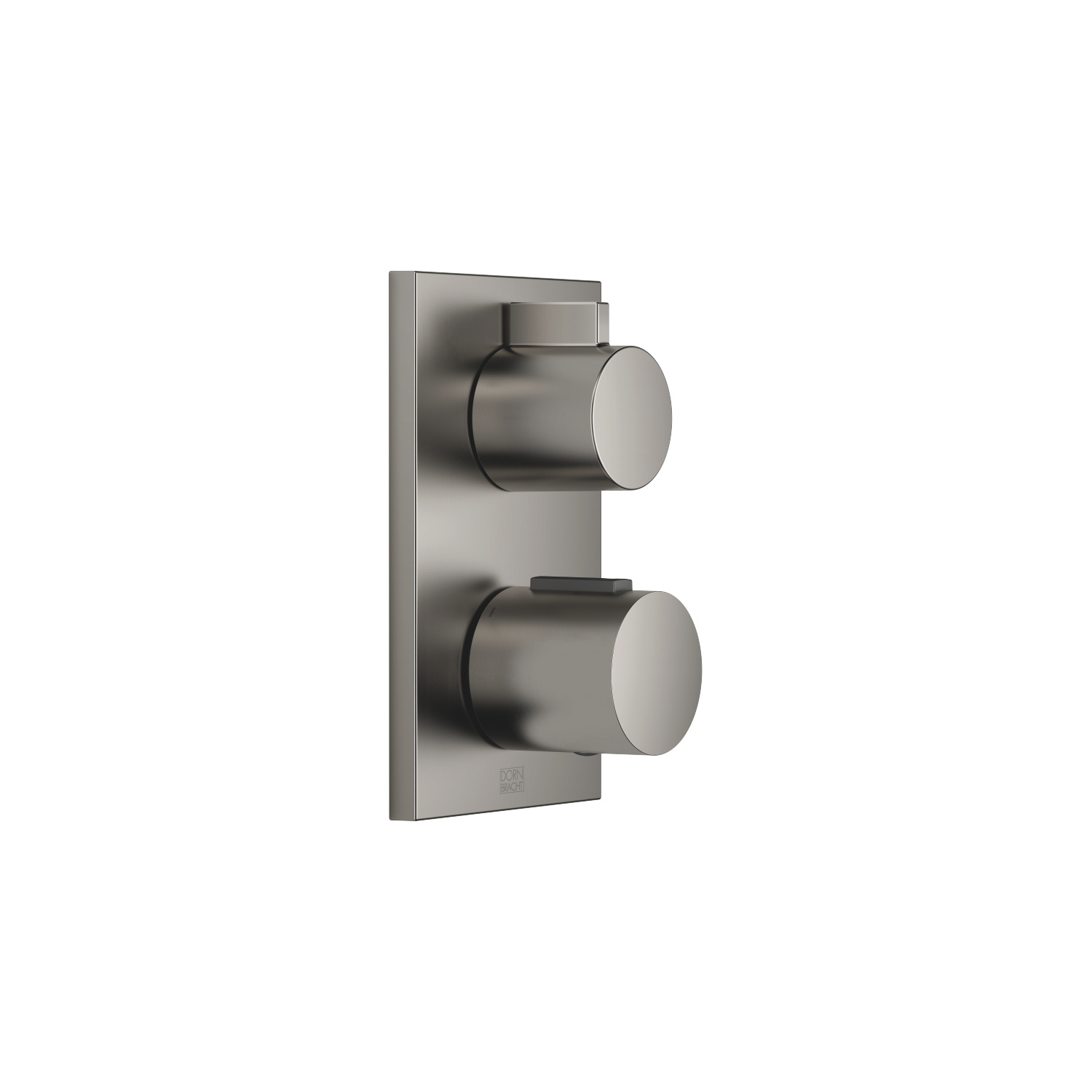 Concealed thermostat with one function volume control - Dark Platinum matt