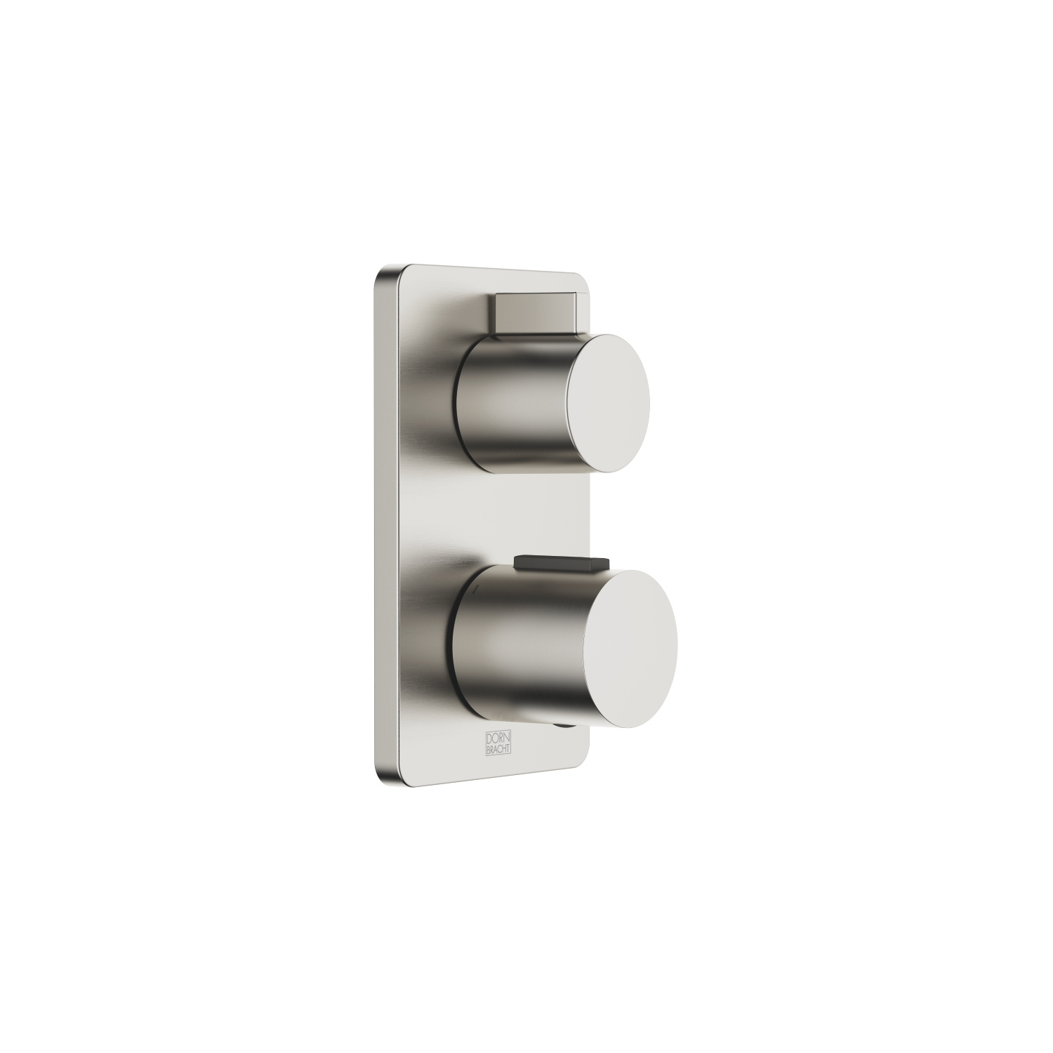 Concealed thermostat with three function volume control - platinum matt