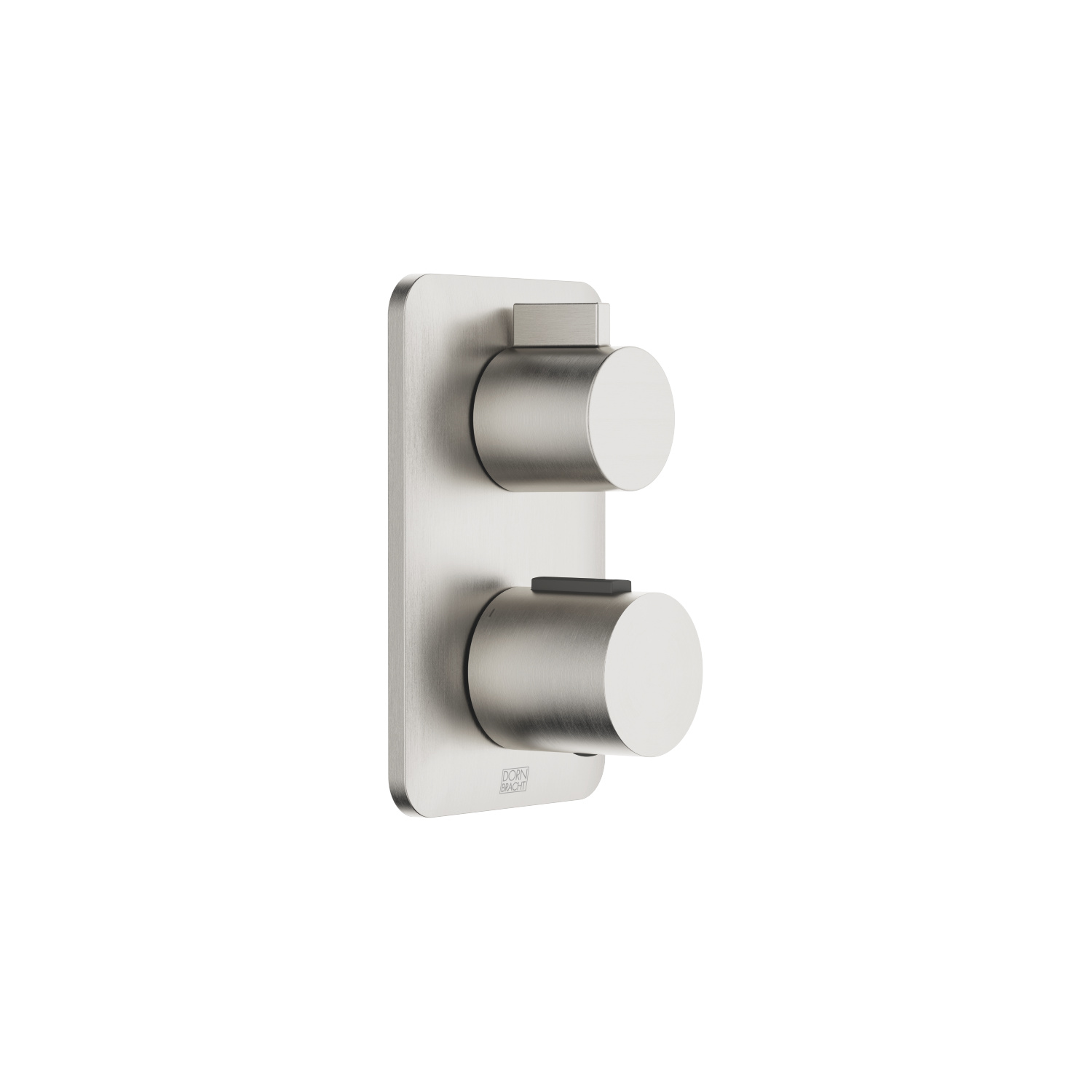 Concealed thermostat with one function volume control - platinum matt