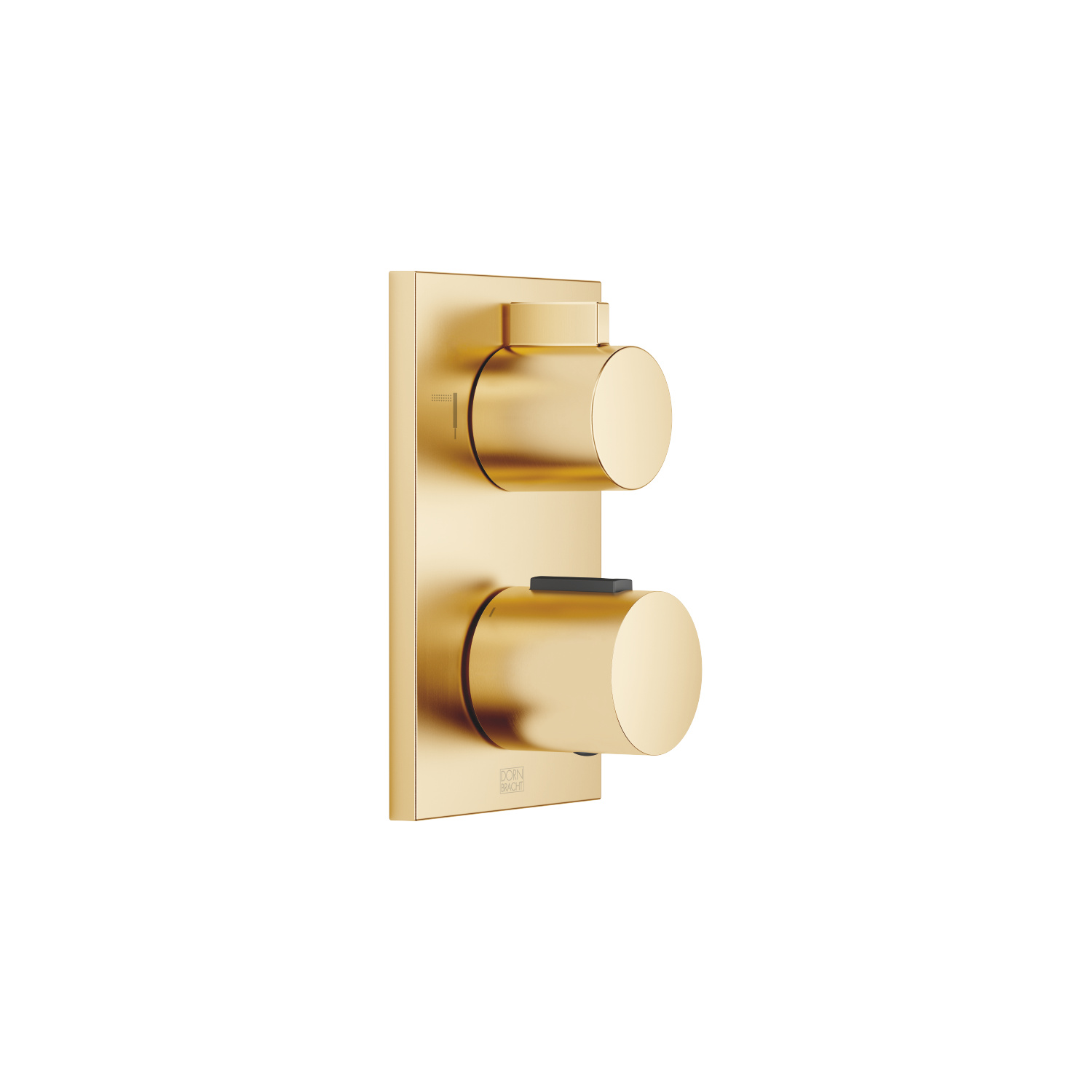 Concealed thermostat with two function volume control - brushed Durabrass
