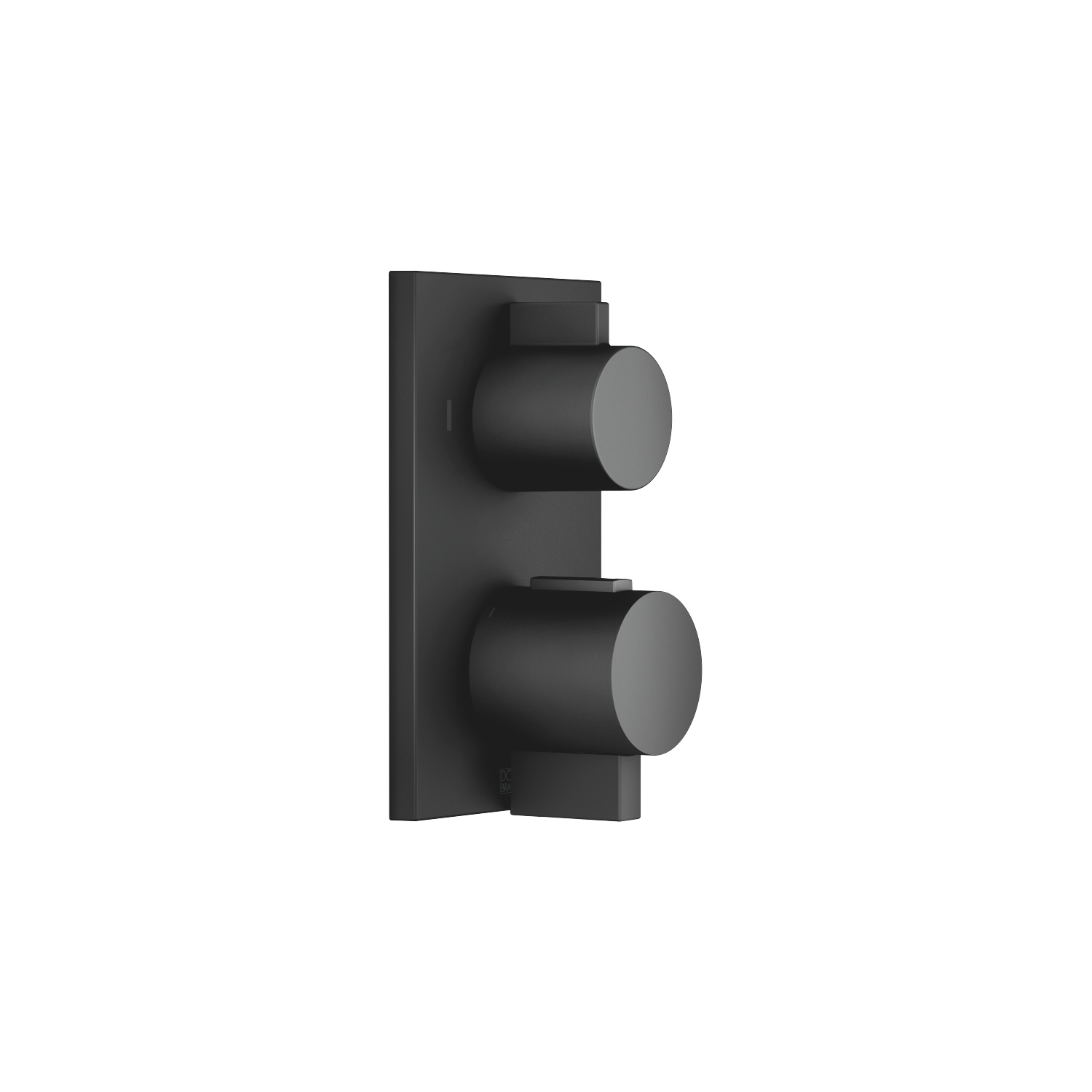 Concealed thermostat with two function volume control - matt black