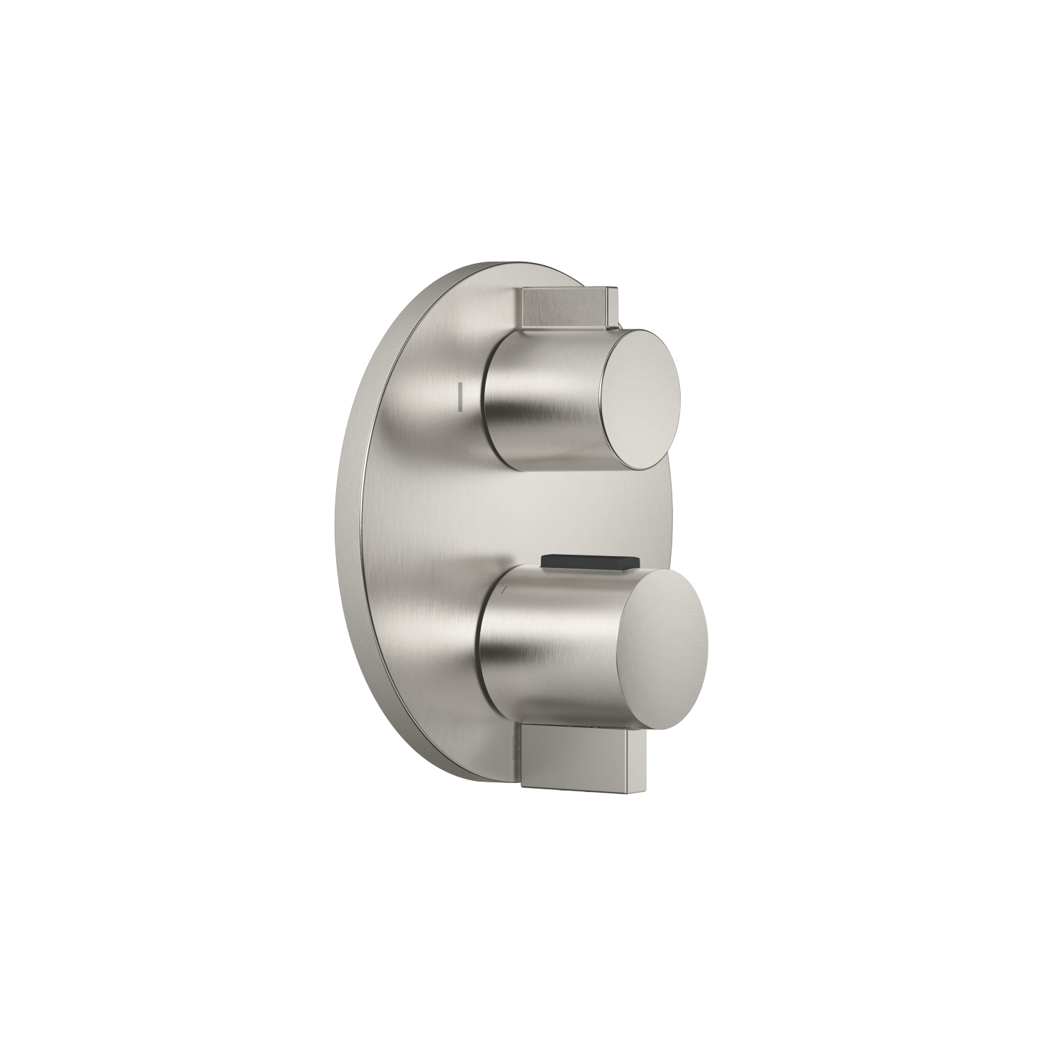 Concealed thermostat with two-way volume control - platinum matte