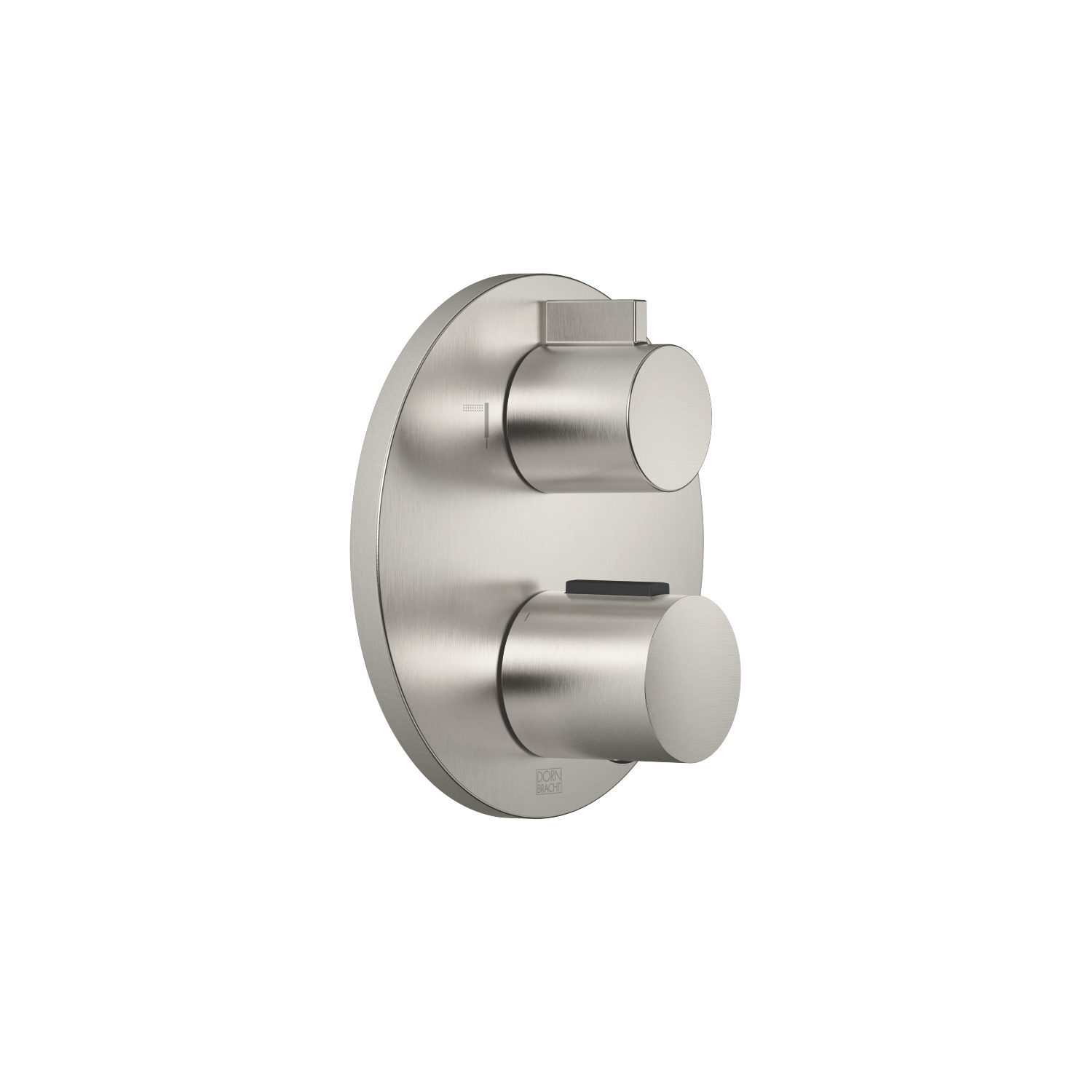 Concealed thermostat with two function volume control - platinum matt