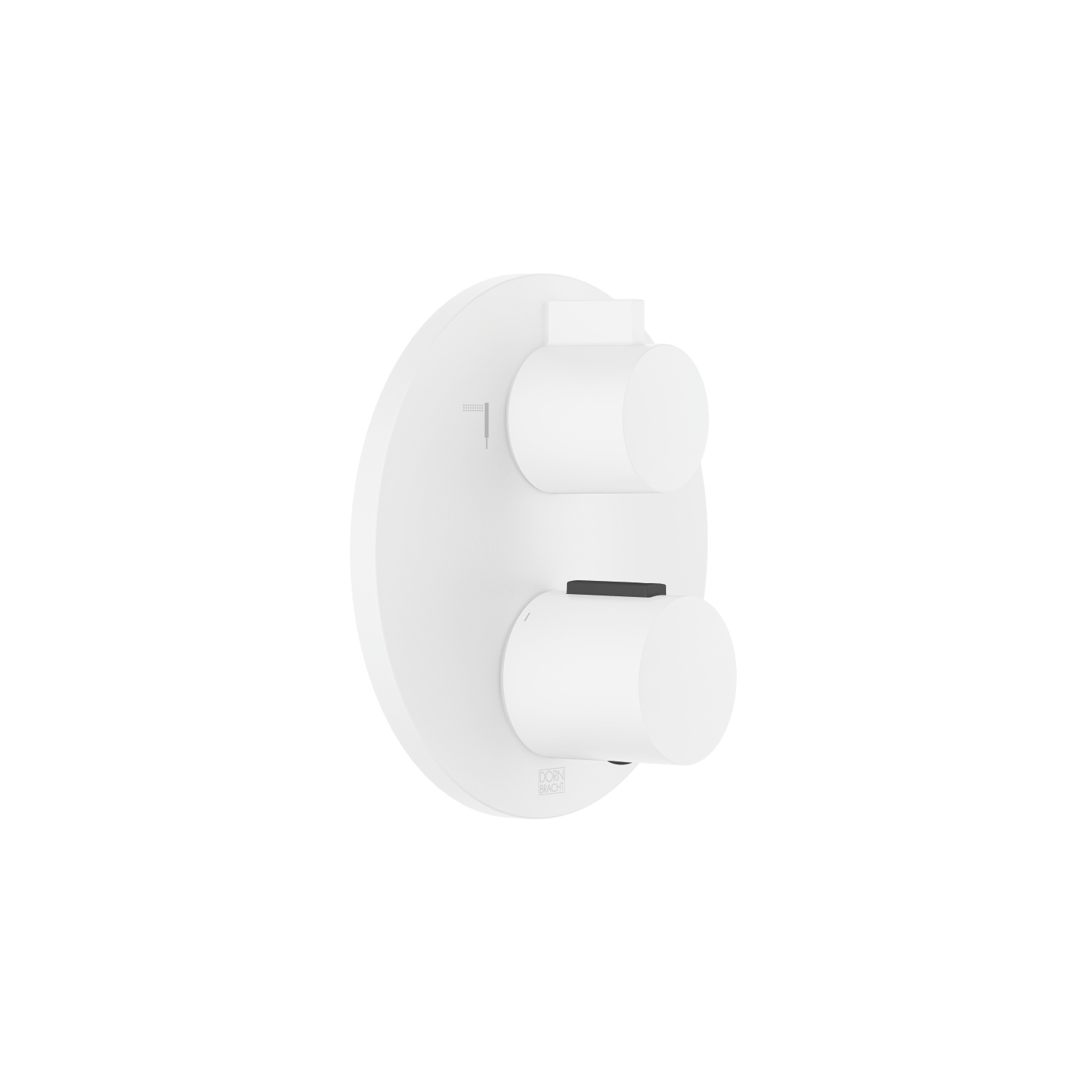 Concealed thermostat with two function volume control - matt white