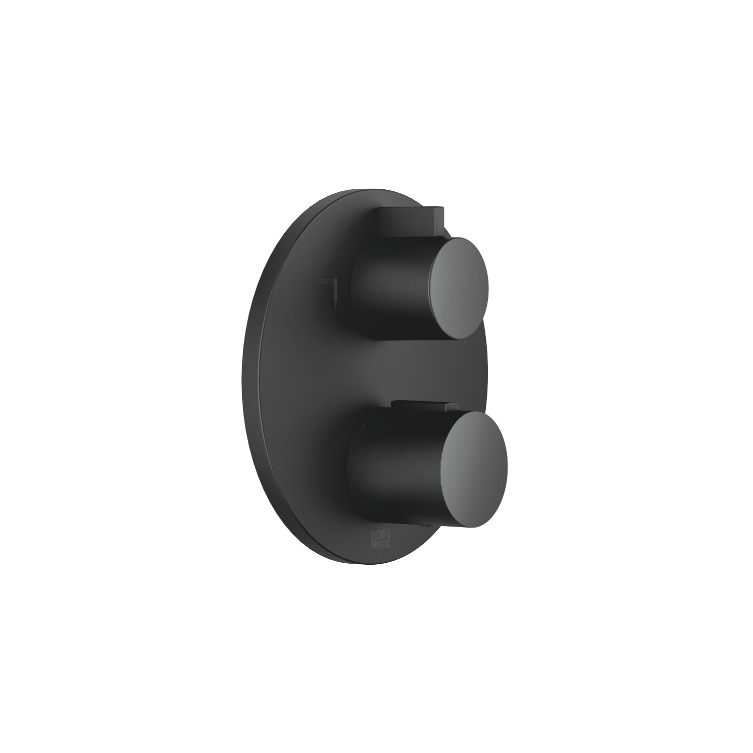 Concealed thermostat with two-way volume control - black matte