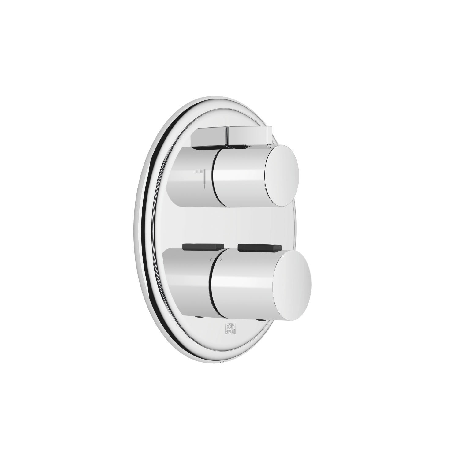 Concealed thermostat with two function volume control - polished chrome