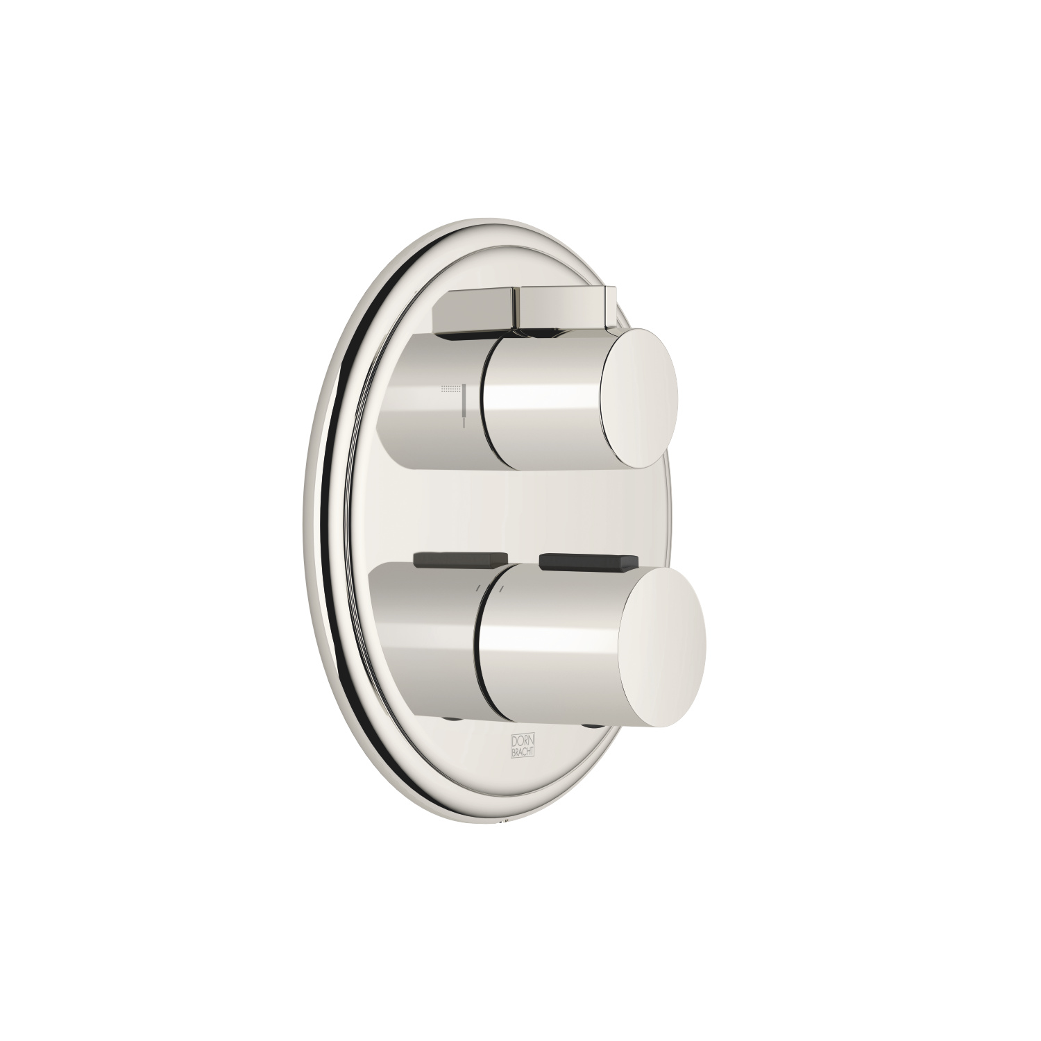 Concealed thermostat with two function volume control - platinum