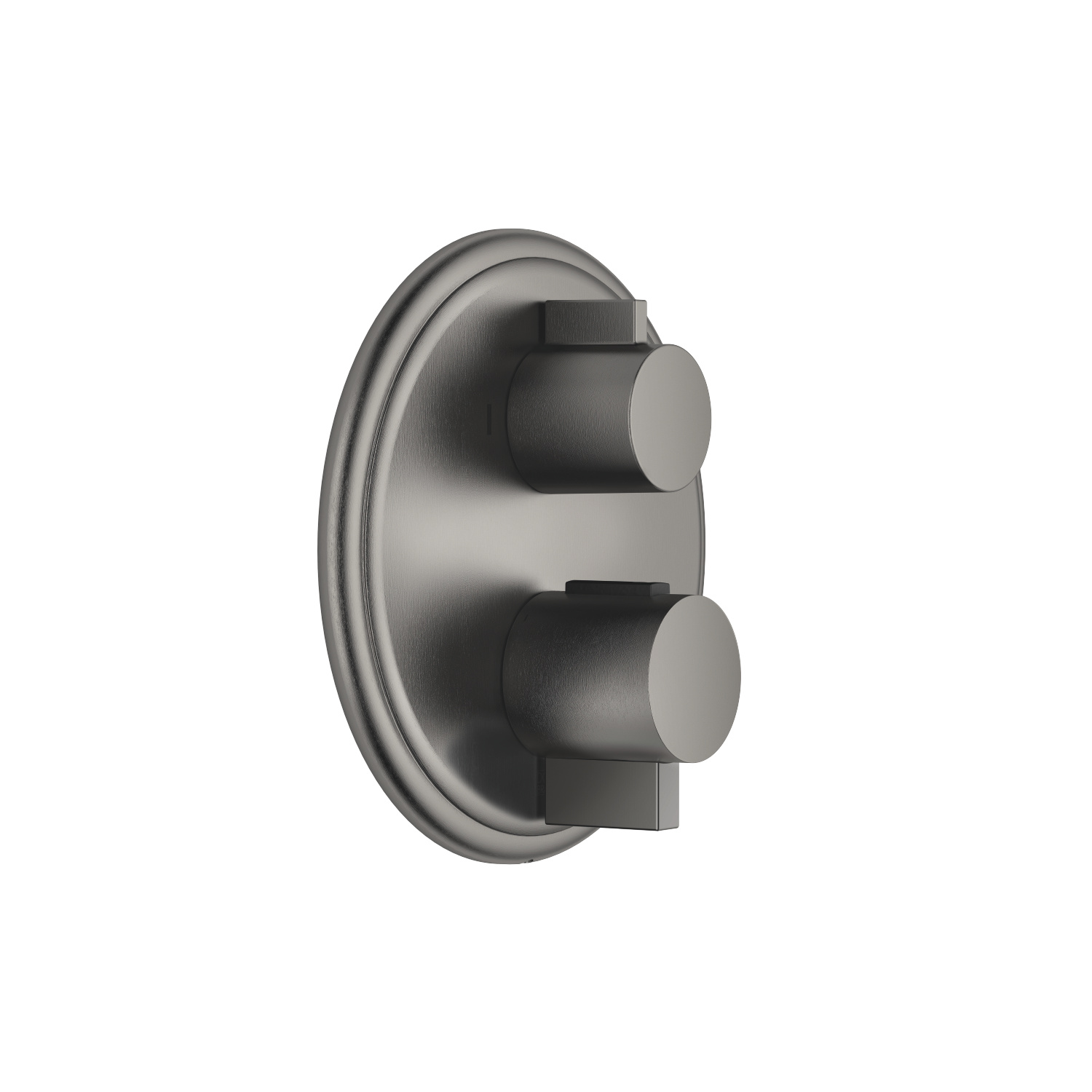 Concealed thermostat with two function volume control - Dark Platinum matt